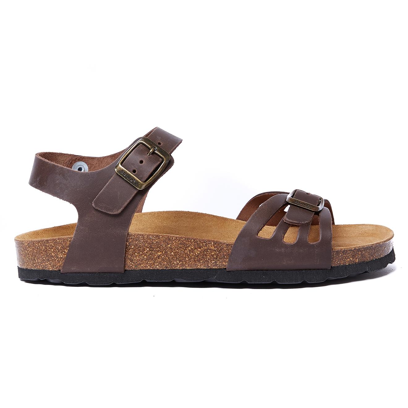 Sandales en Cuir Neva marron foncé