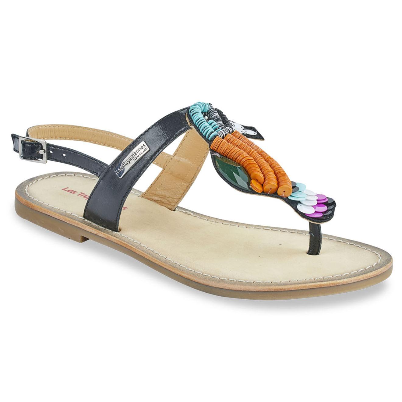 Sandales entre-doigts Toucan en Cuir - Les Tropeziennes - Modalova