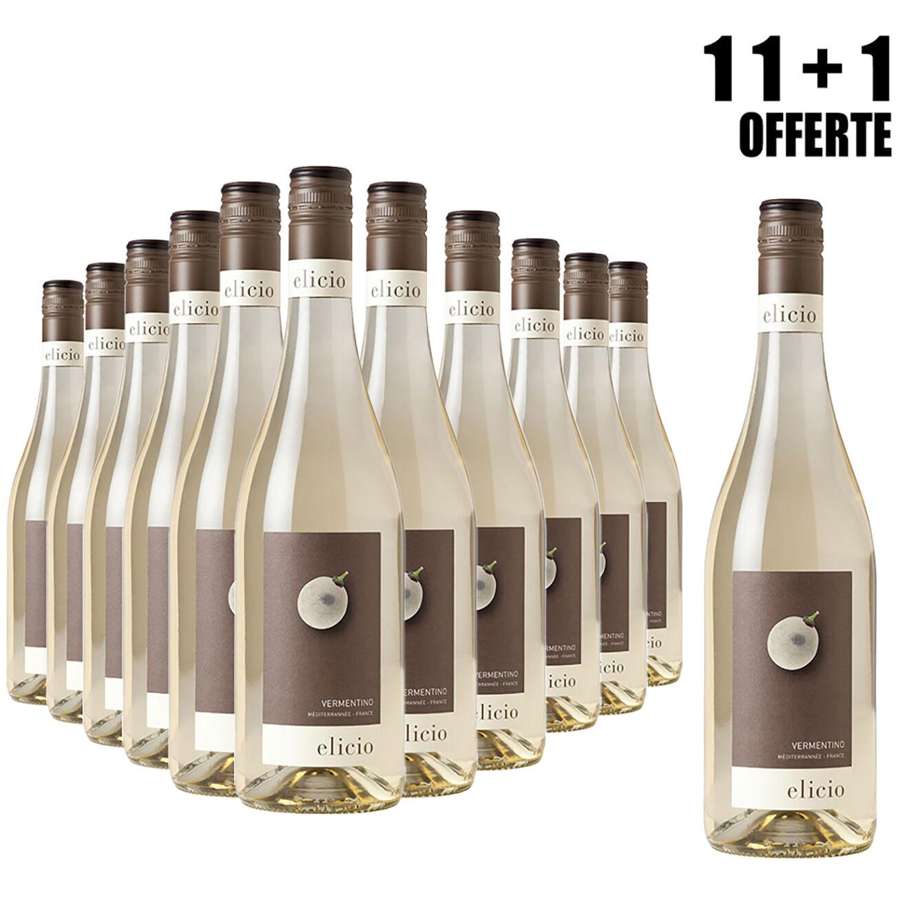 Lot de 11 IGP Méditerranée Blanc Elicio 2018 Cascavel 75cl + 1 Offerte