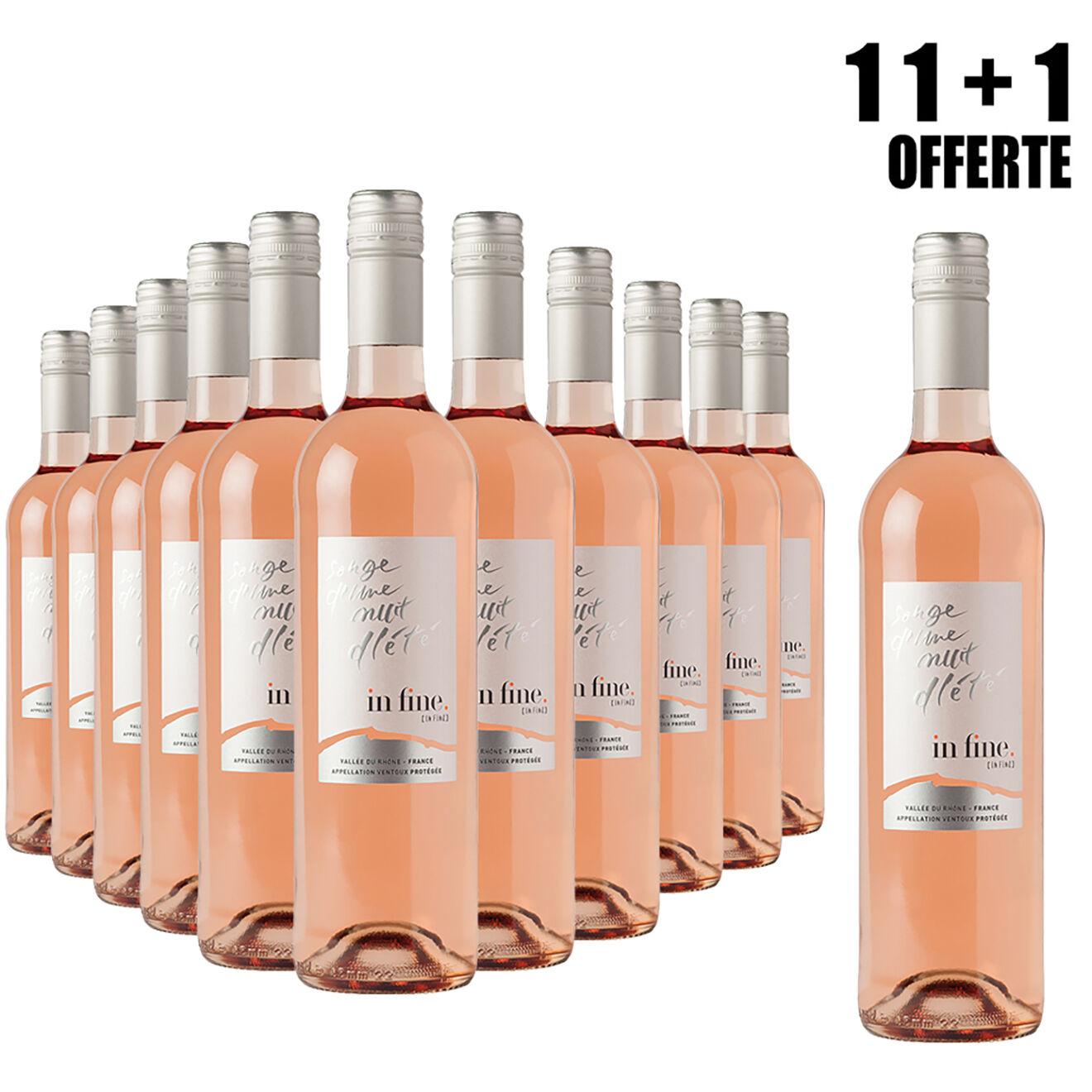 Lot de 11 Ventoux rosé 2018 Cascavel 75cl + 1 Offerte