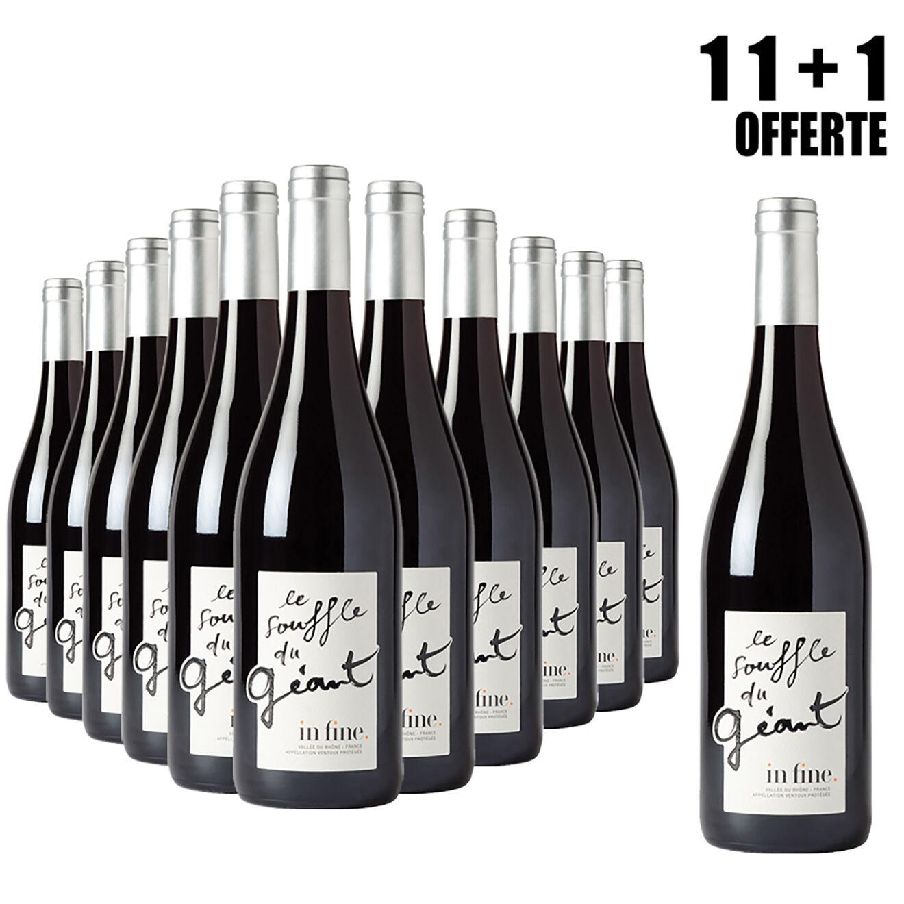 Lot de 11 Ventoux Souffle du Géant 2015 Cascavel 75cl + 1 Offerte