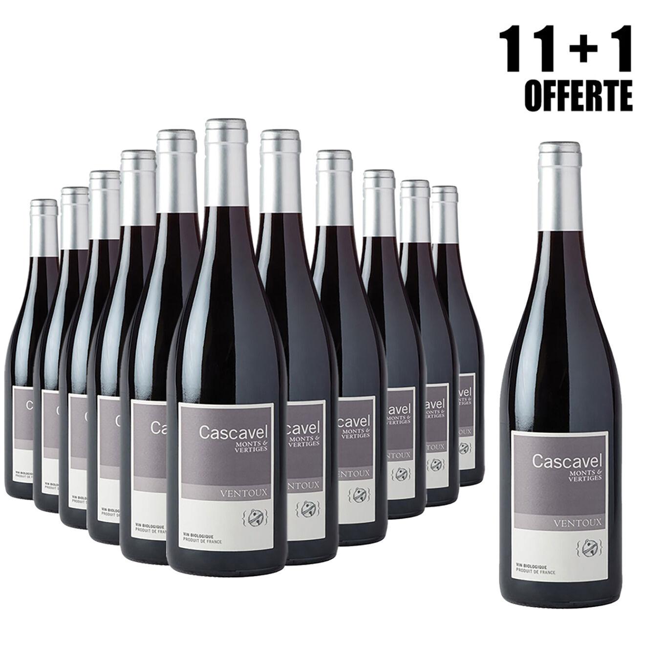 Lot de 11 Ventoux 2015 Cascavel 75cl + 1 Offerte