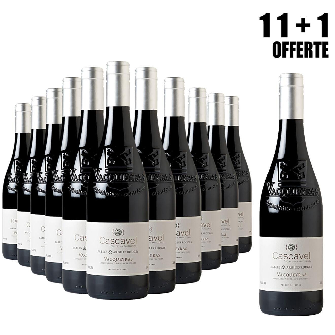Lot de 11 Vacqueyras Sables & Argiles 2015 Cascavel 75cl + 1 Offerte