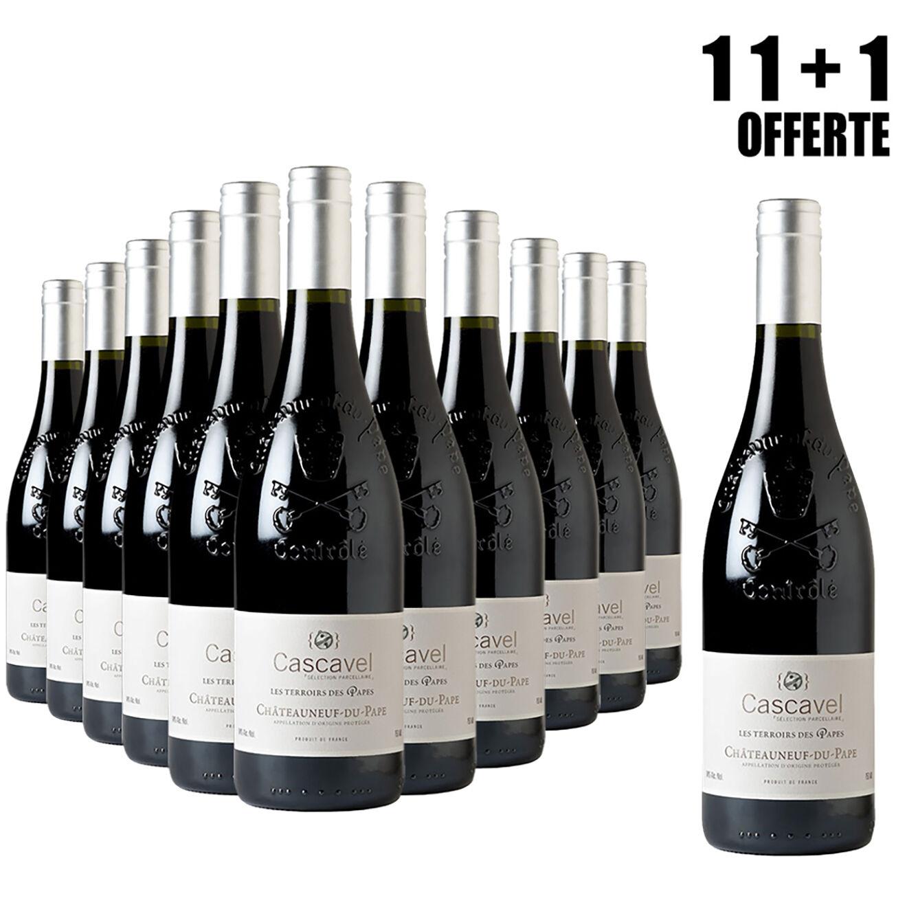 Lot de 11 Châteauneuf-du-Pape Terroirs du Pape 2014 Cascavel 75cl + 1 Offerte