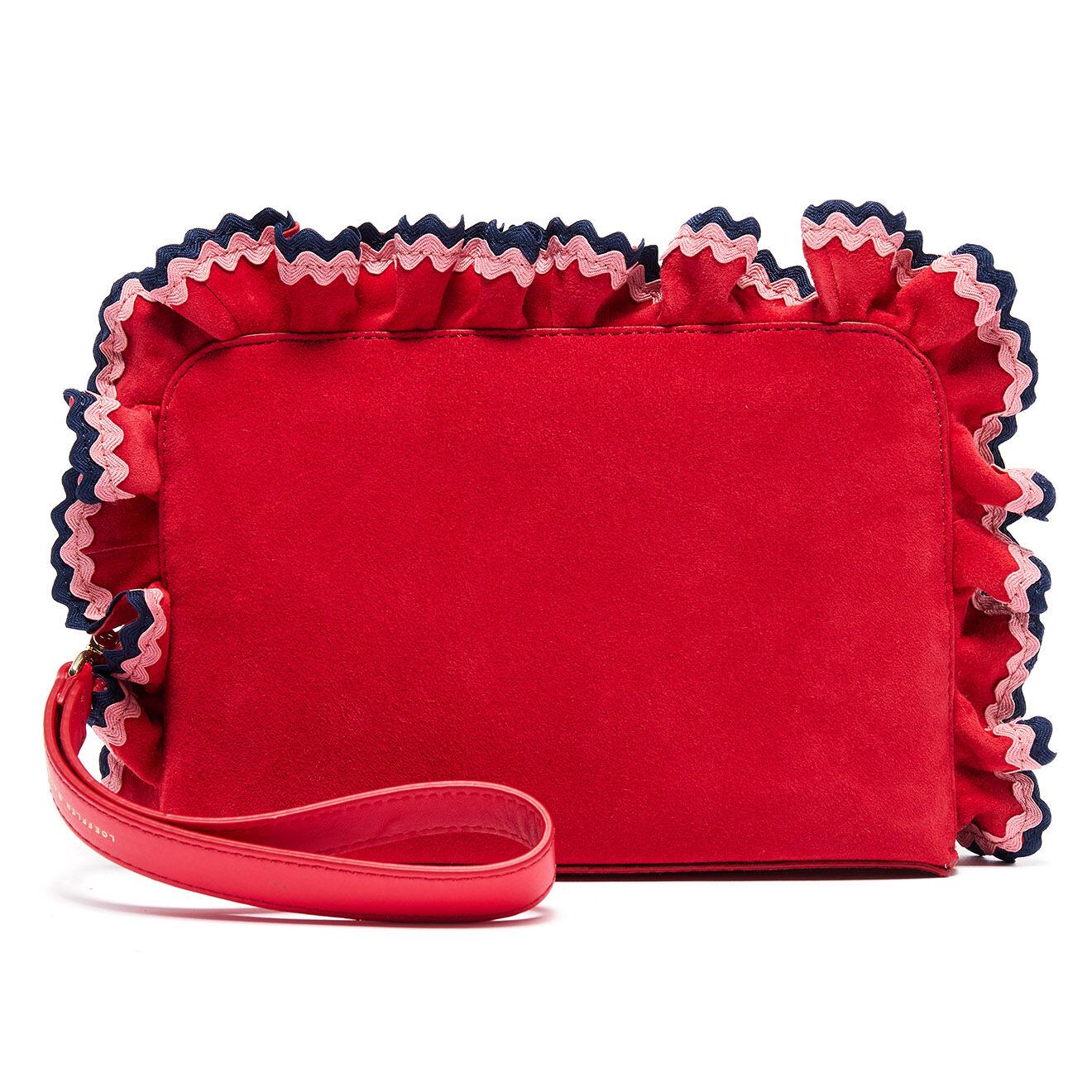 Pochette en Velours de cuir rouge - 27.5x17x3.5 cm