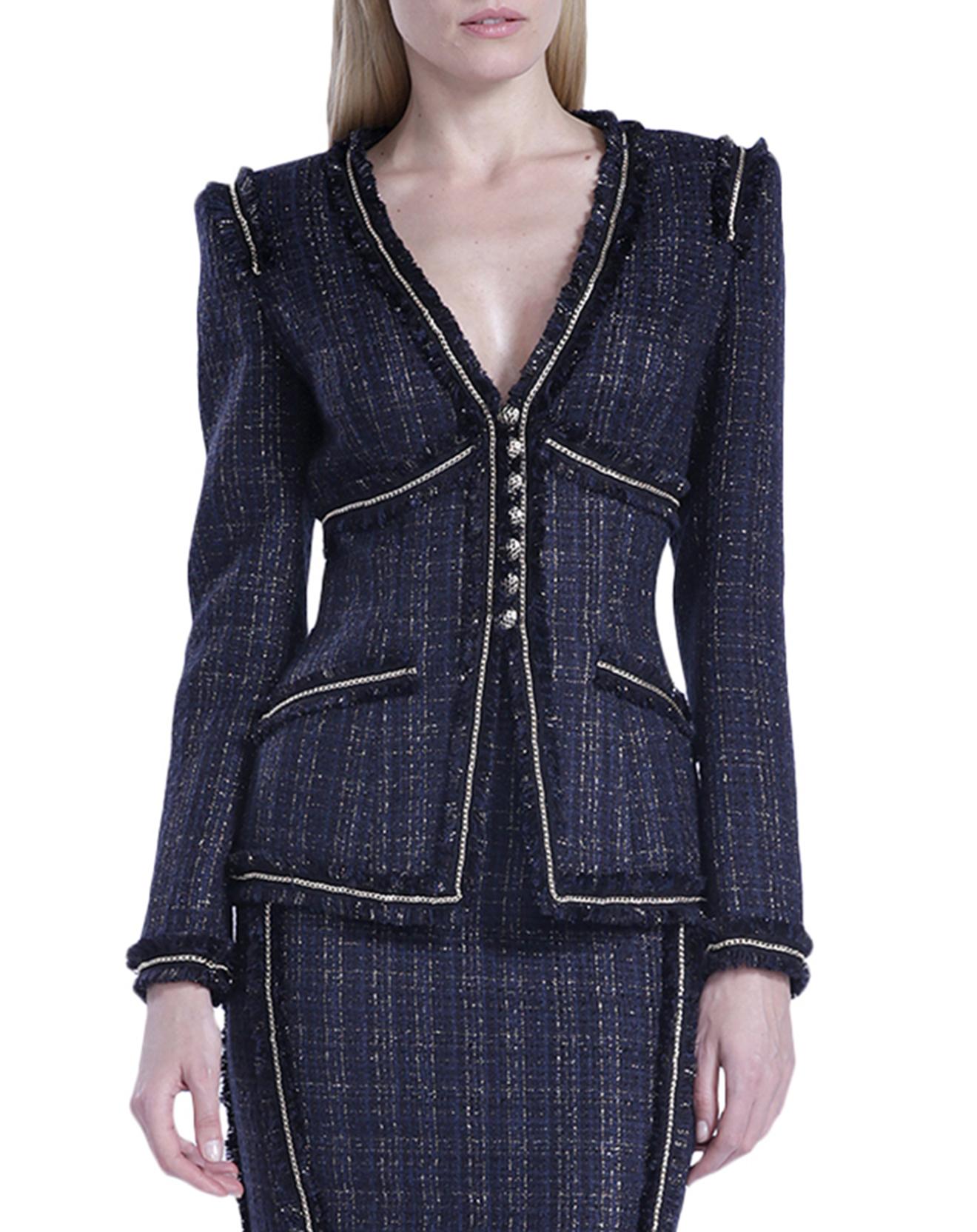 Veste en tweed bleue - Isabel garcia - Modalova