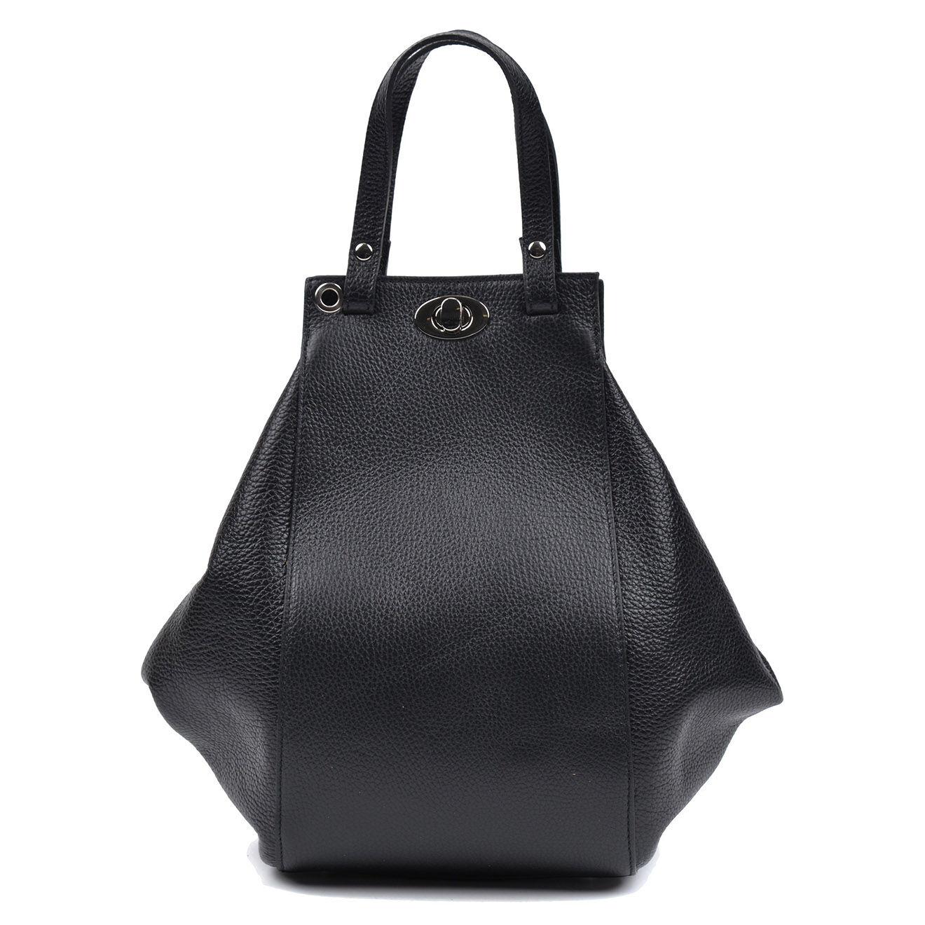 Sac en Cuir Eliana noir - 33x38x6.5 cm
