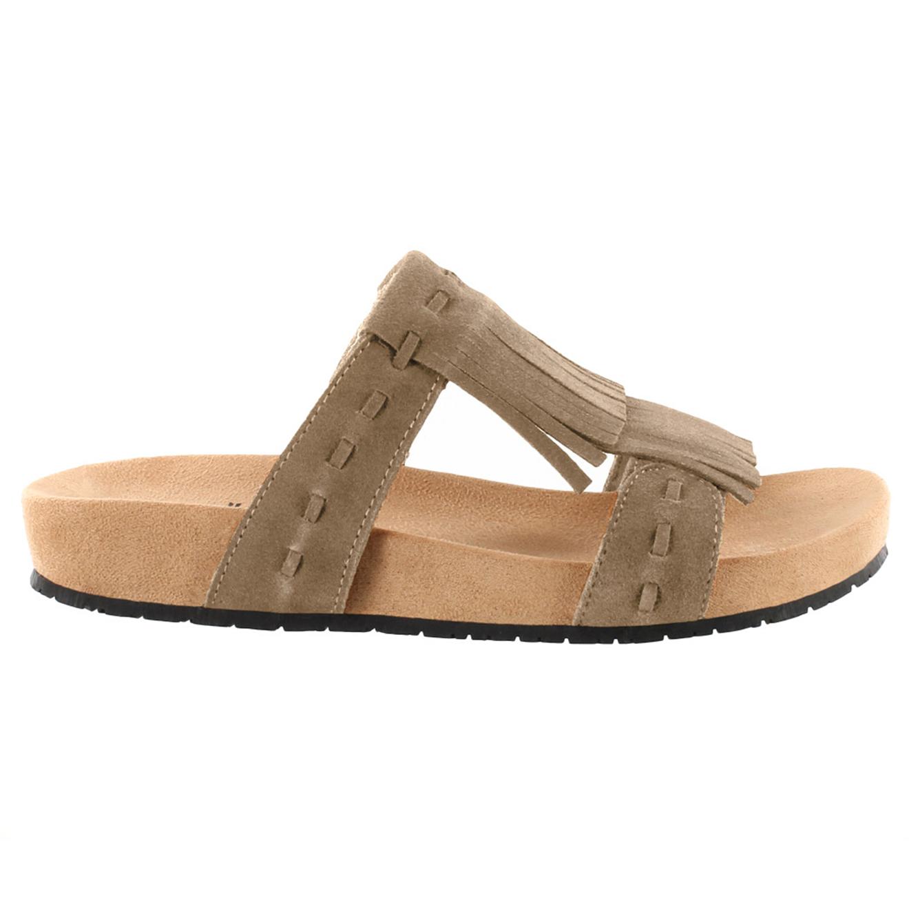 Sandales en Velours de Cuir Daisy taupe - Minnetonka - Modalova