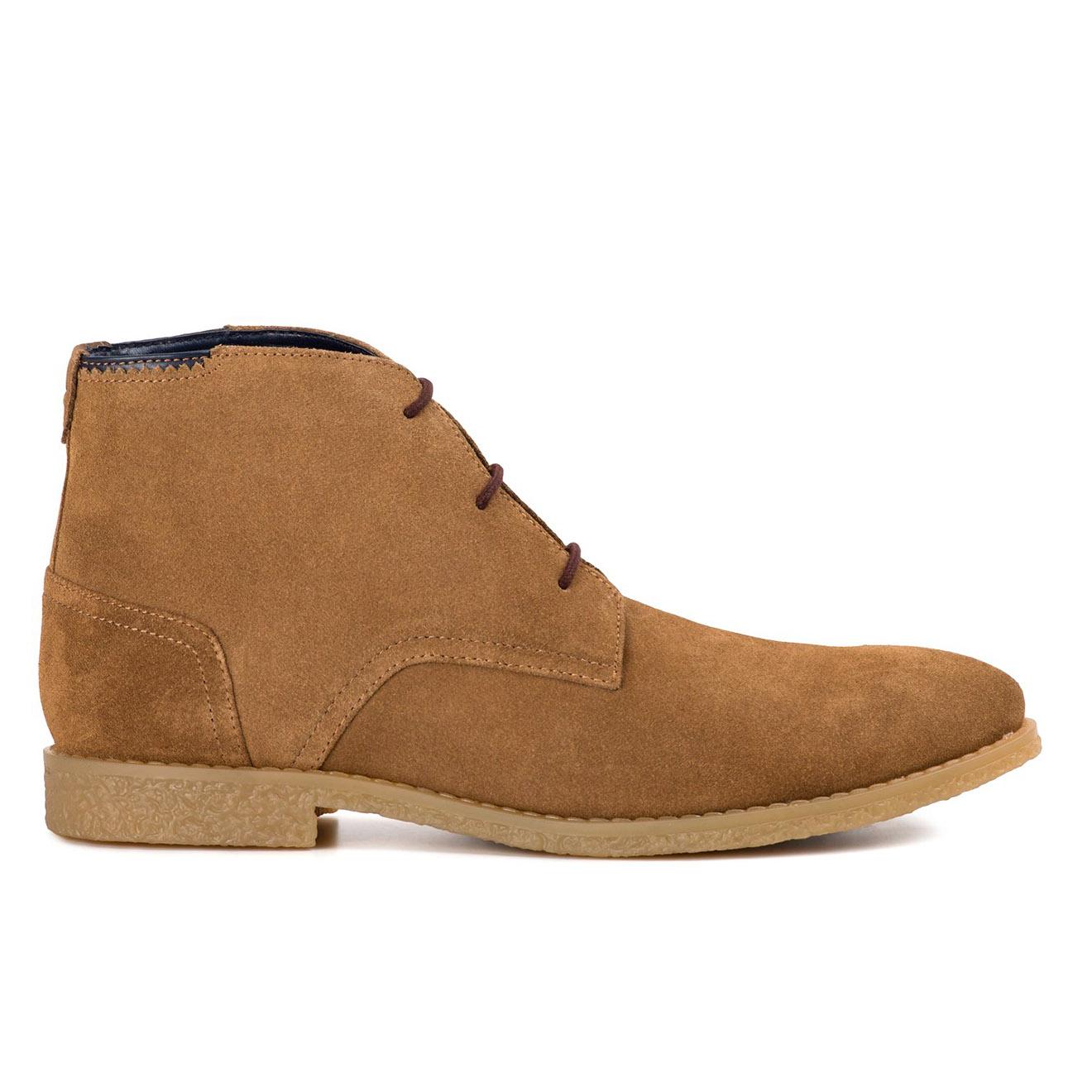 Boots en Velours de Cuir Mojave camel