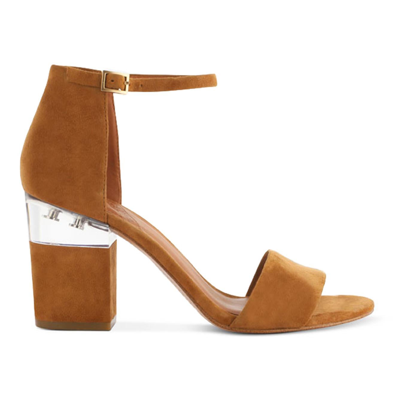 Sandales en Velours de Cuir Scarlett camel - Talon 8.5 cm - What For - Modalova
