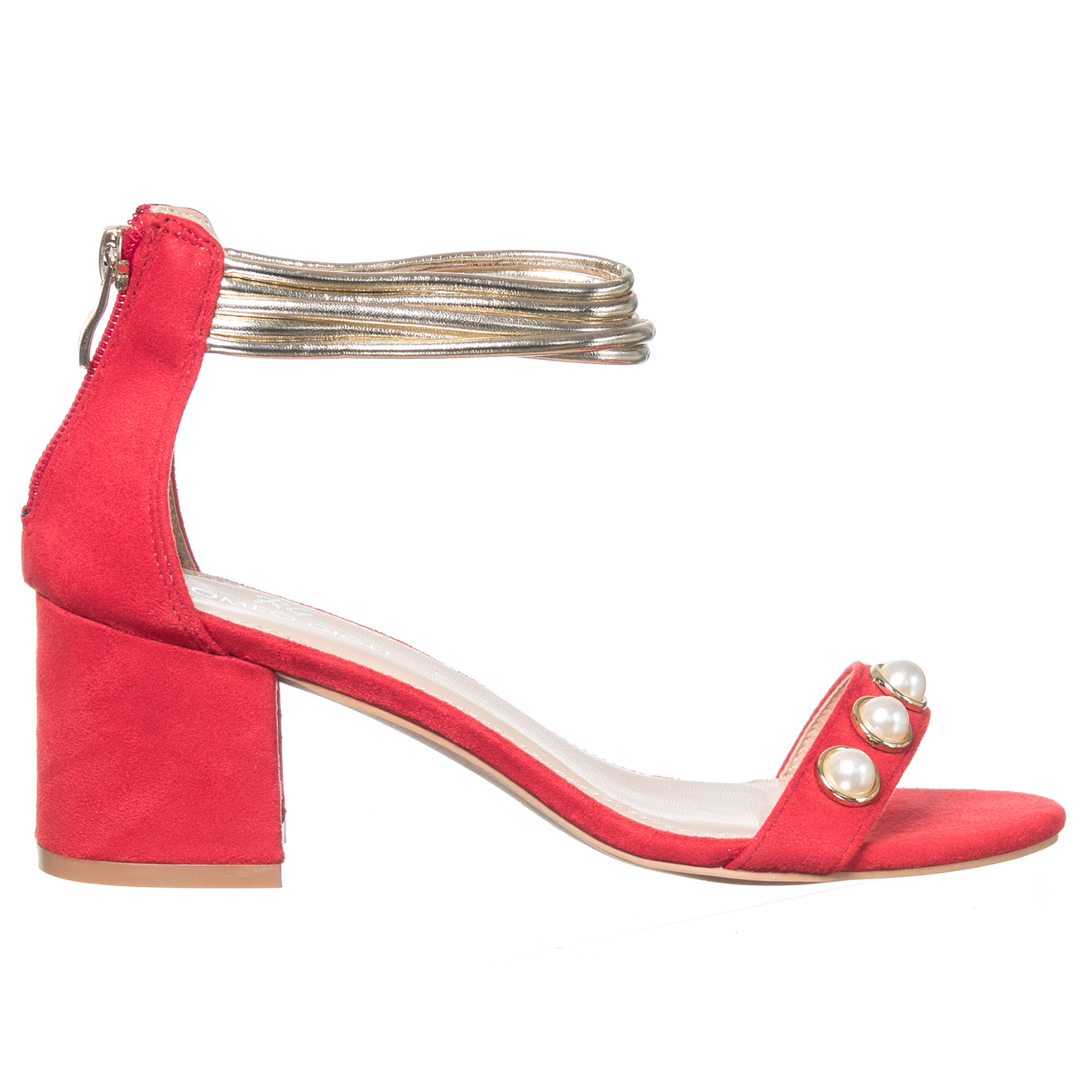 Sandales Lucia rouges - Talon 6 cm
