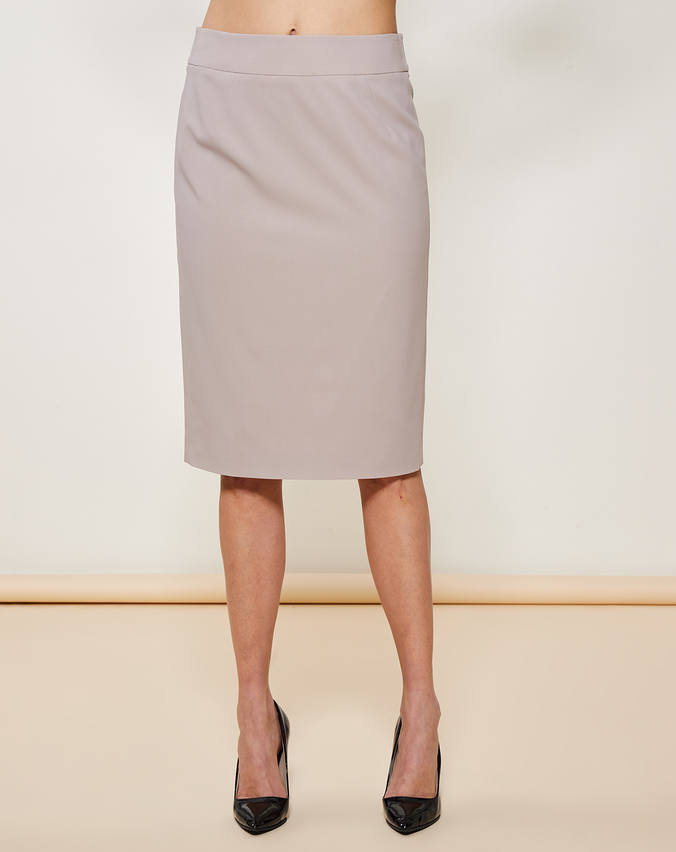 Jupe droite 100% Laine Vierge unie - Giorgio Armani - Modalova