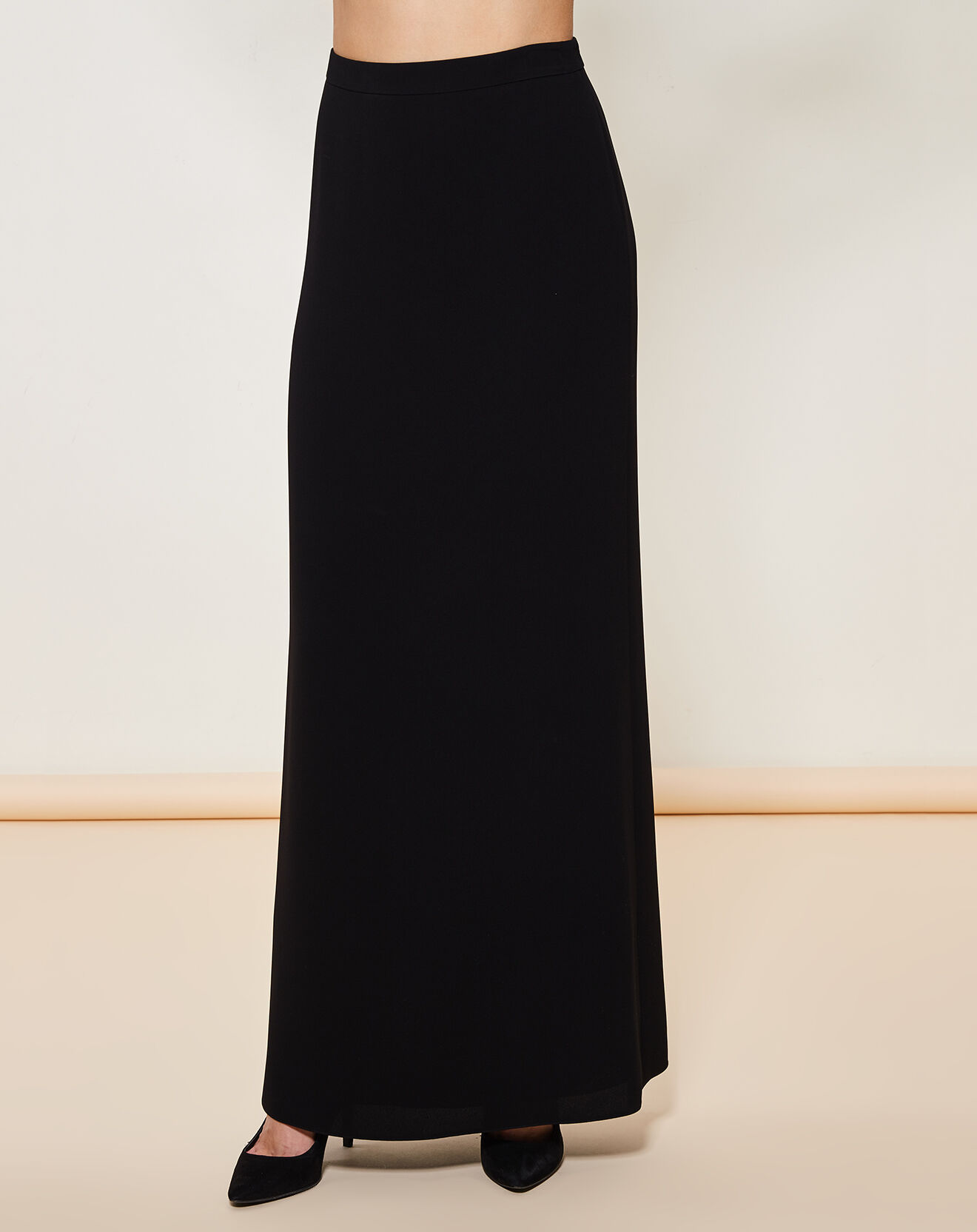 Jupe longue fluide noire - Giorgio Armani - Modalova