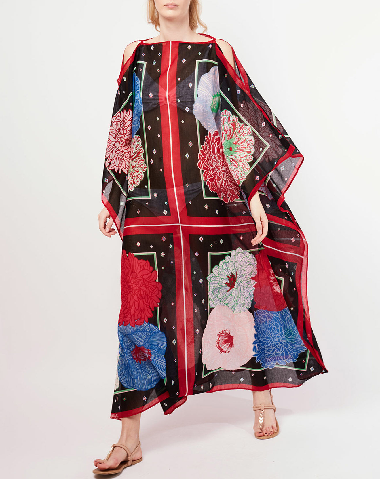 Robe ample Mily Bouquet noir/multicolore