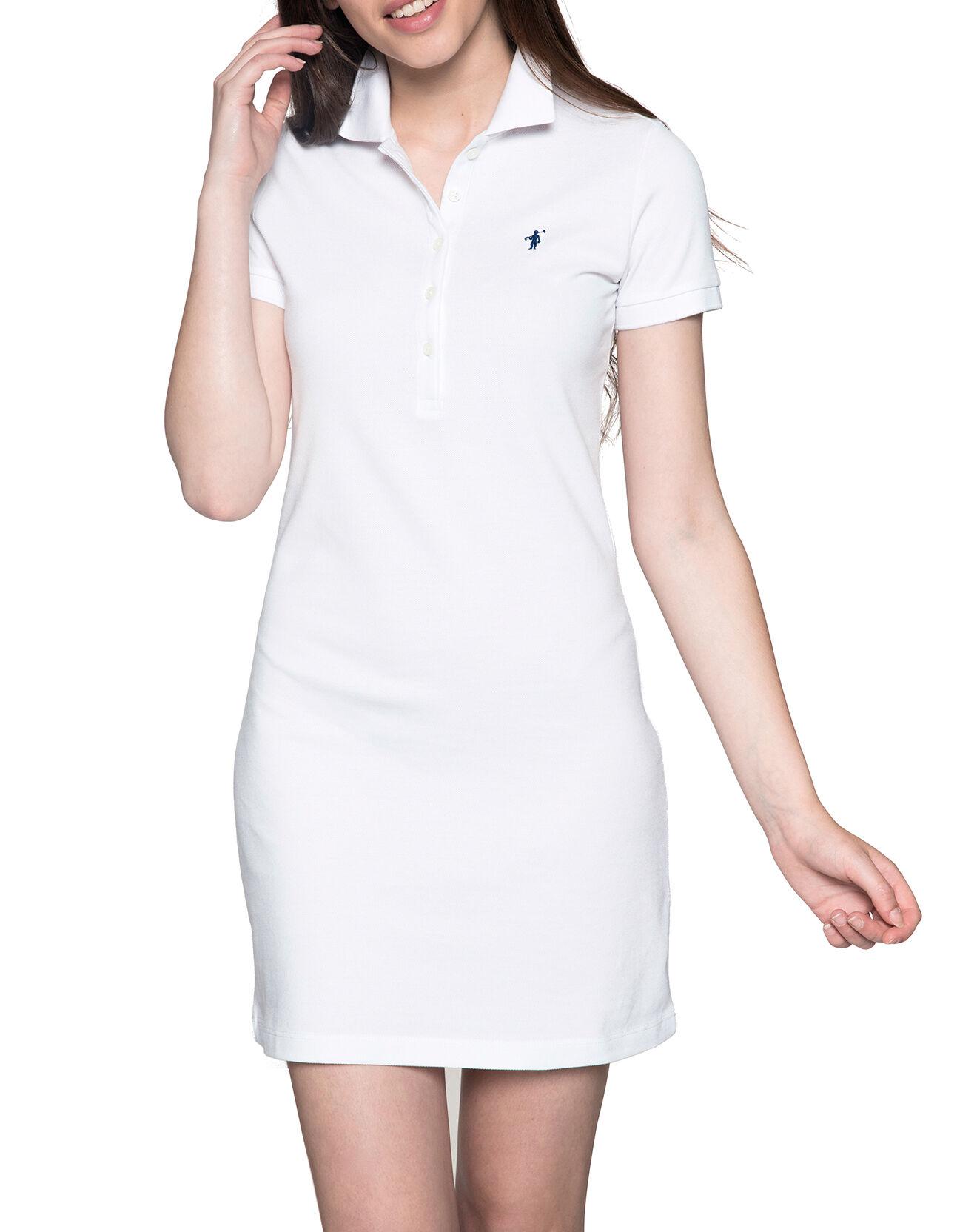 Robe Polo manches courtes blanche