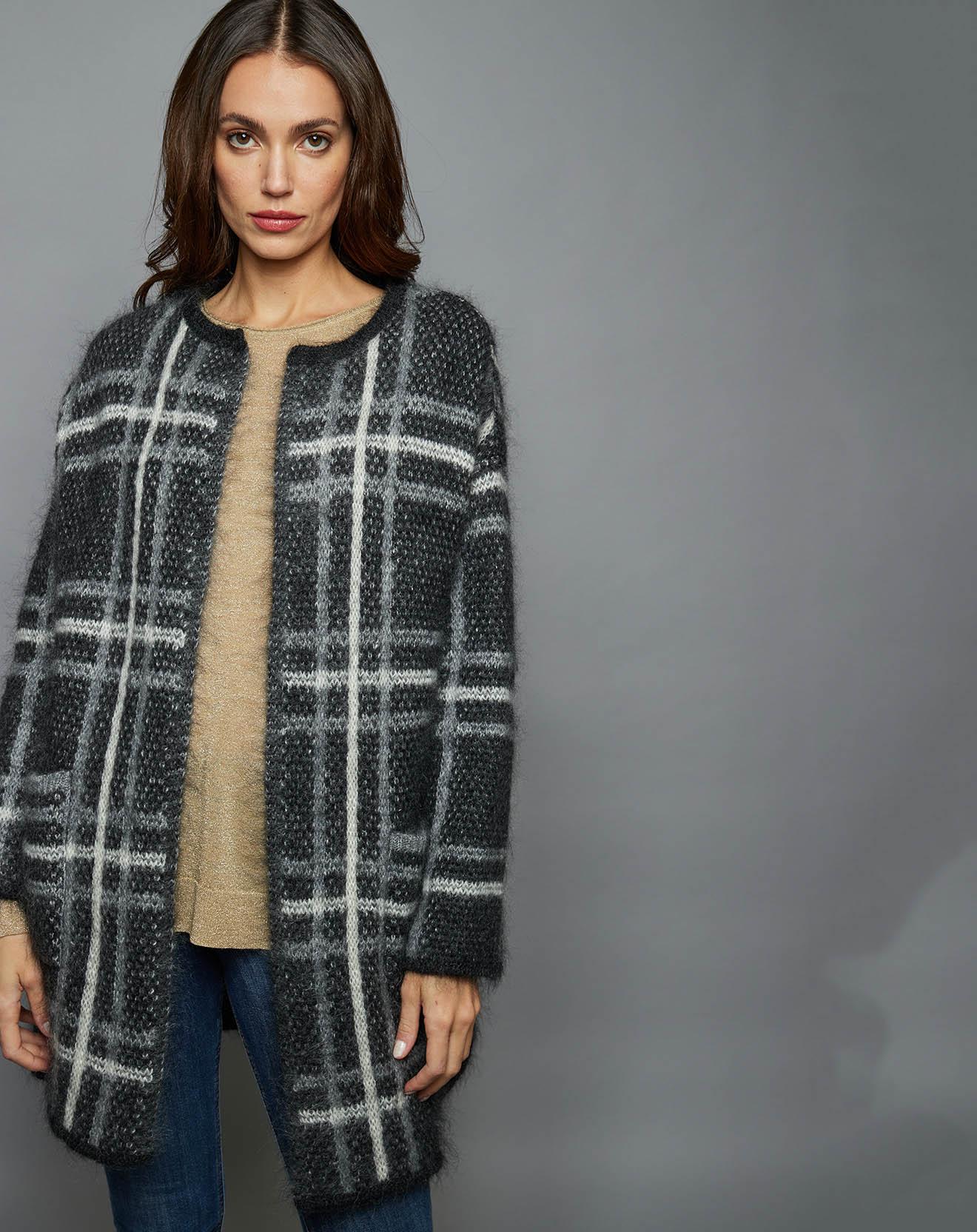 Manteau en mohair Tania gris