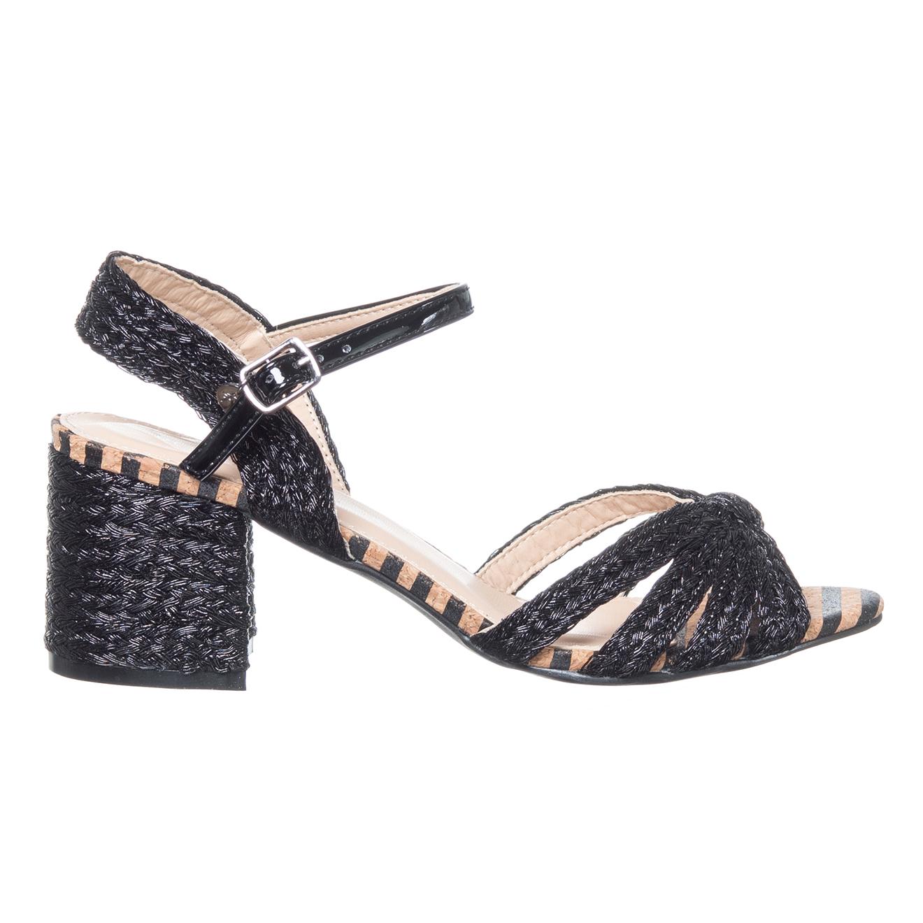 Sandales Tango noires - Talon 6 cm