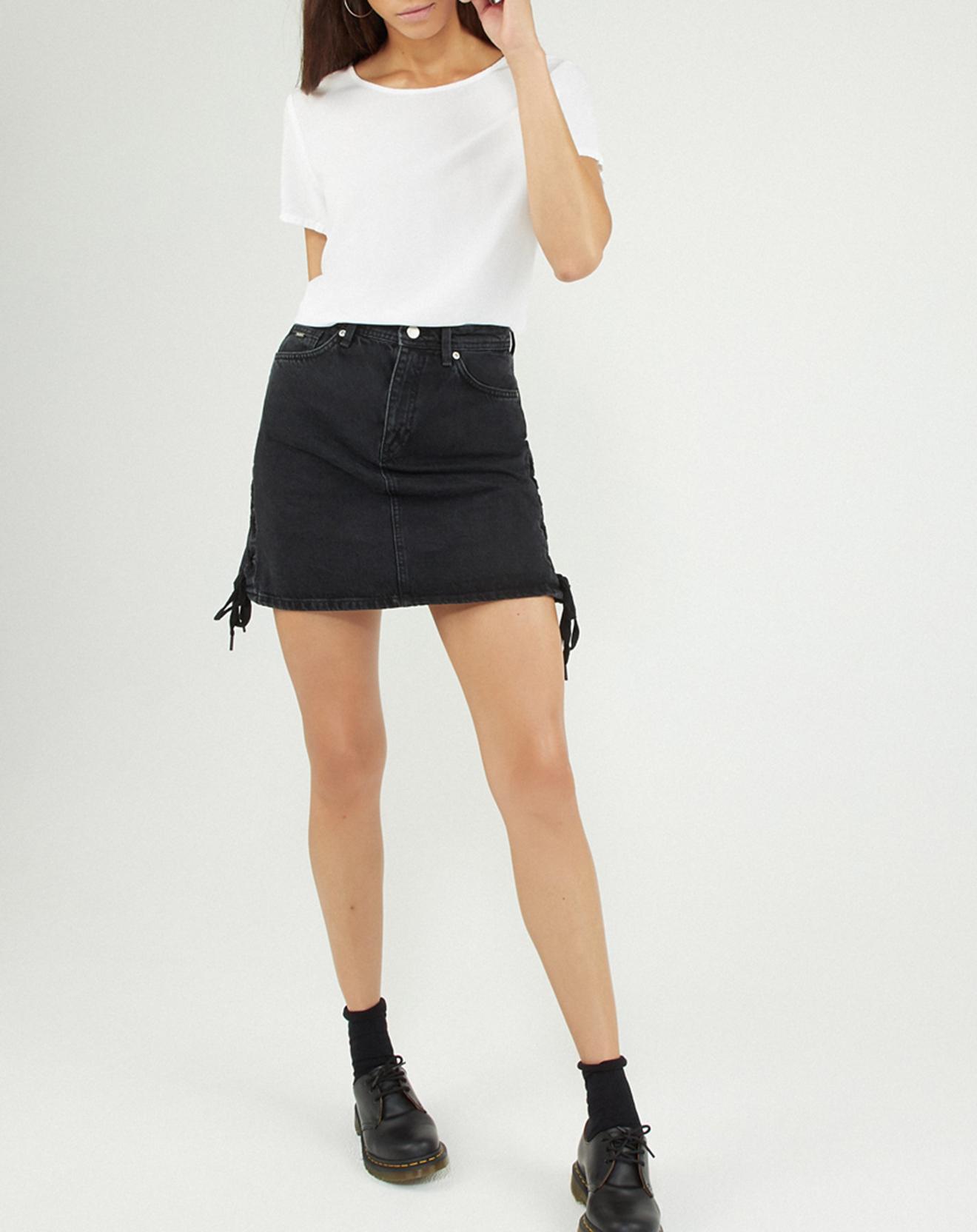 Jupe en jean Rachel noire - Pepe Jeans - Modalova