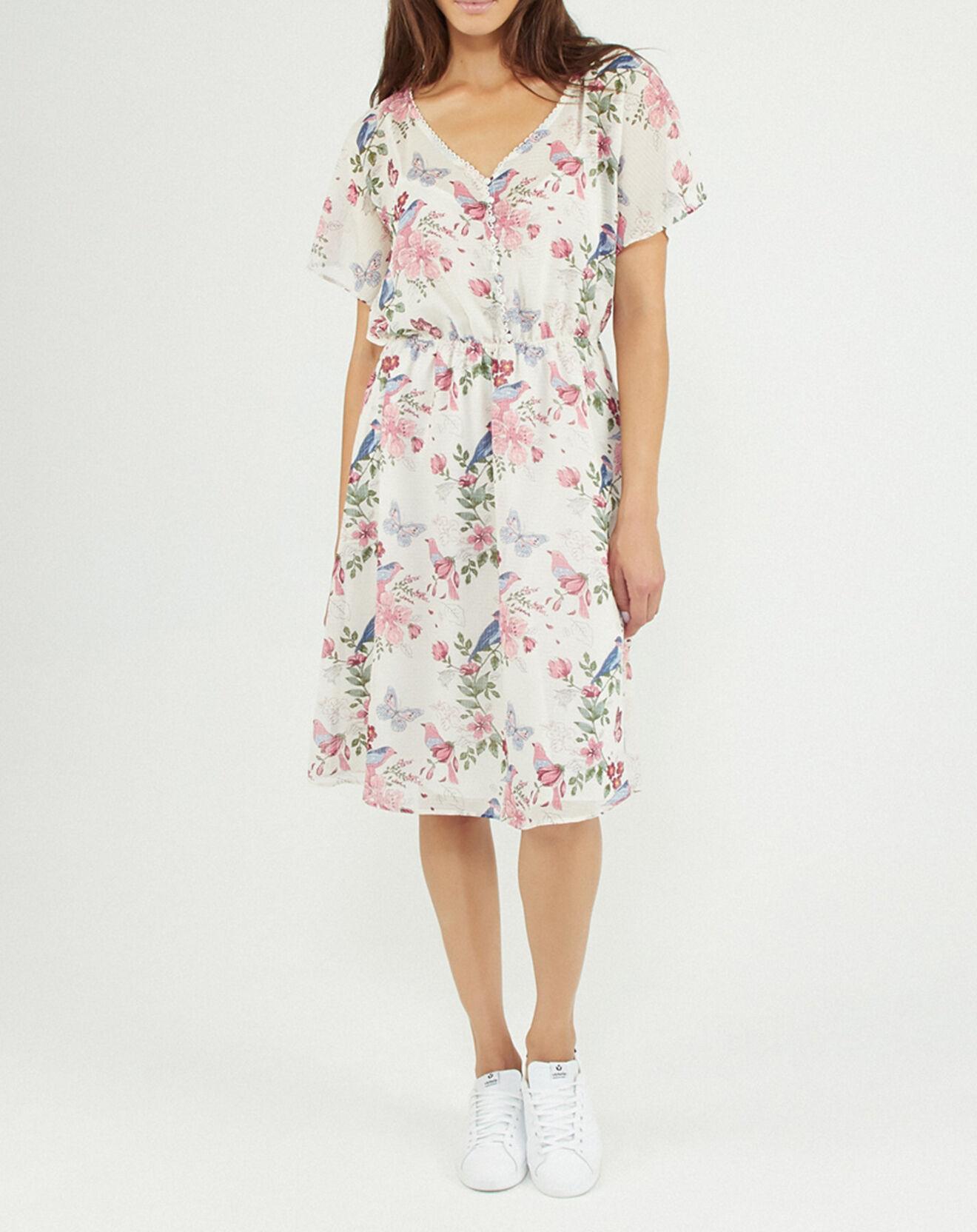 Robe imprimée printanier blanc/multicolore - Pepe Jeans - Modalova