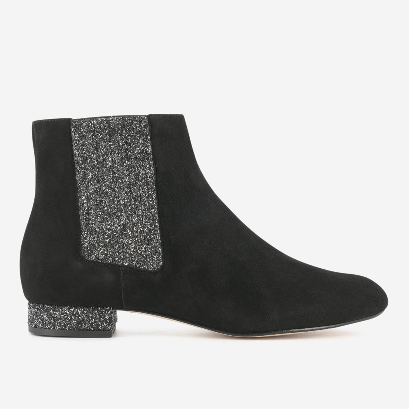 Chelsea Boots Efragon en Velours de Cuir noires - Mellow Yellow - Modalova