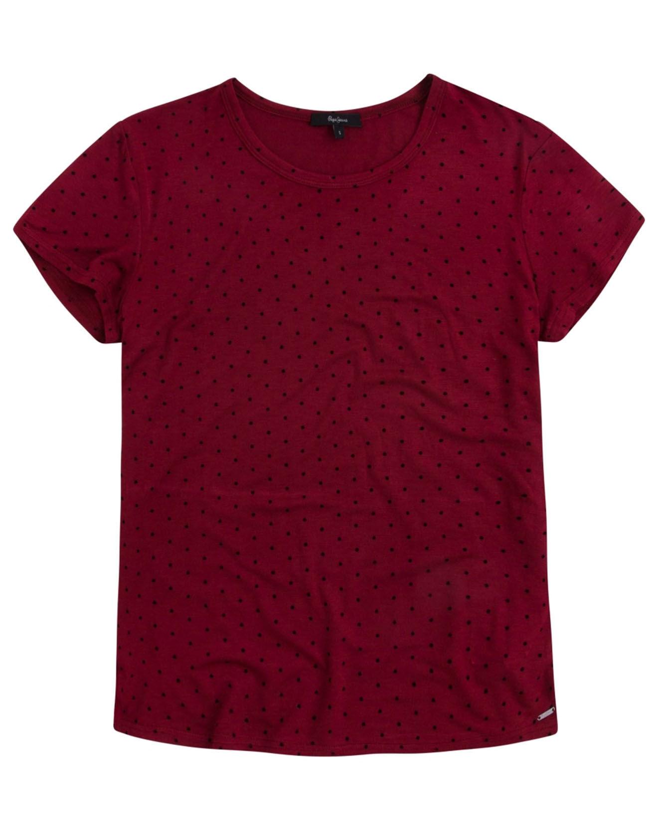 T-Shirt à pois Luna rouge - Pepe Jeans - Modalova