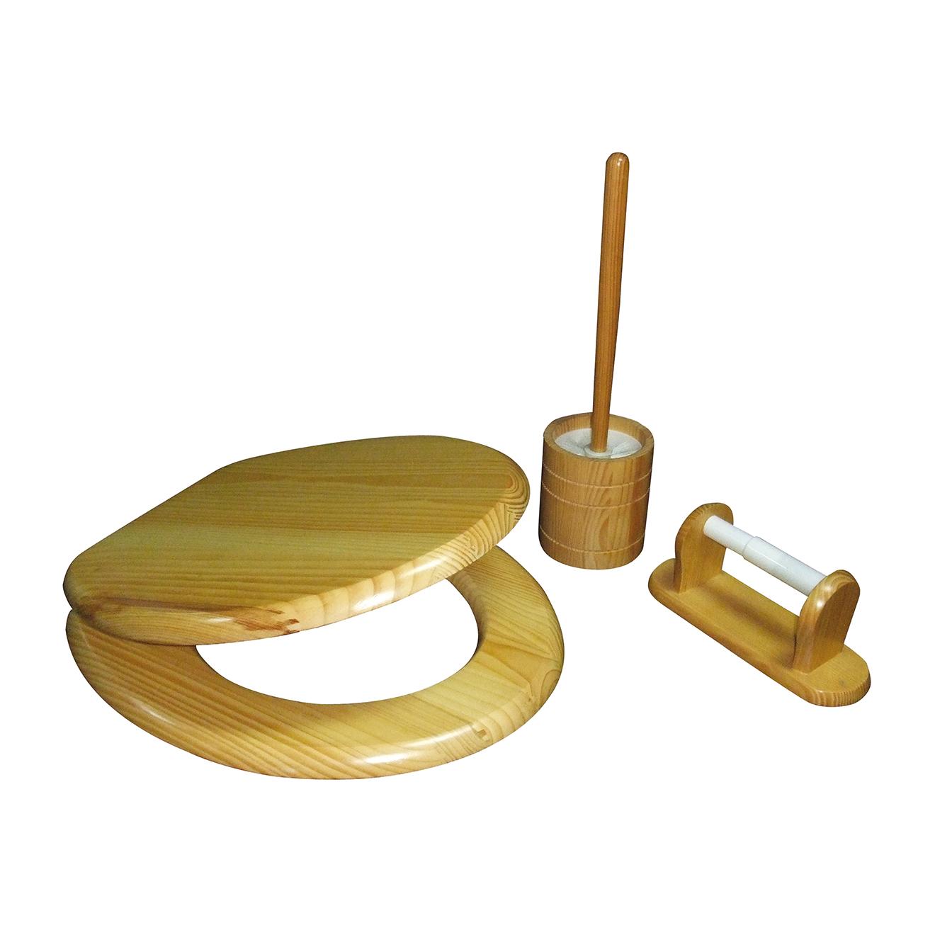 Bergner--accessoires pour wc - 3 pièces bois...