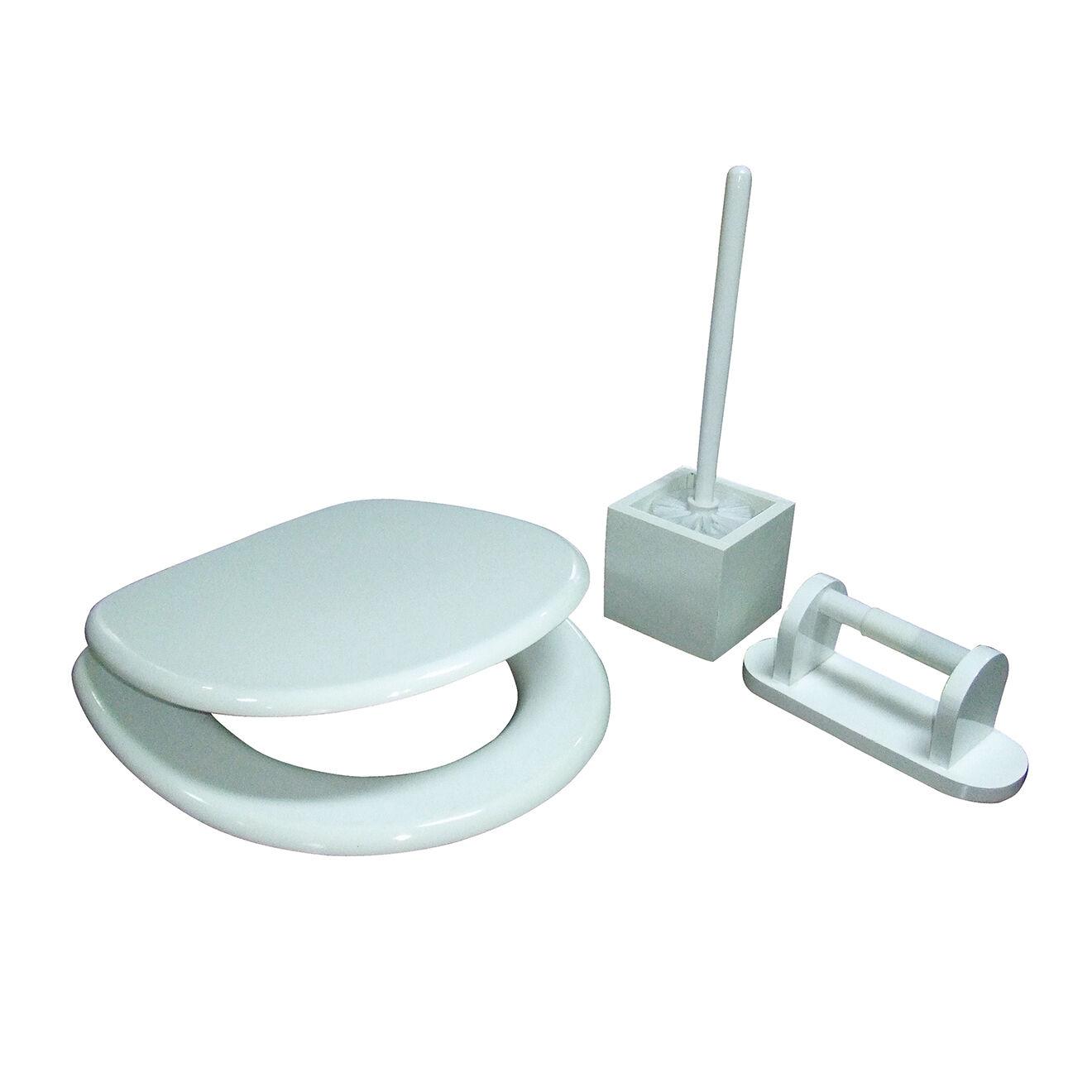 Bergner--accessoires pour wc blanc-t.u