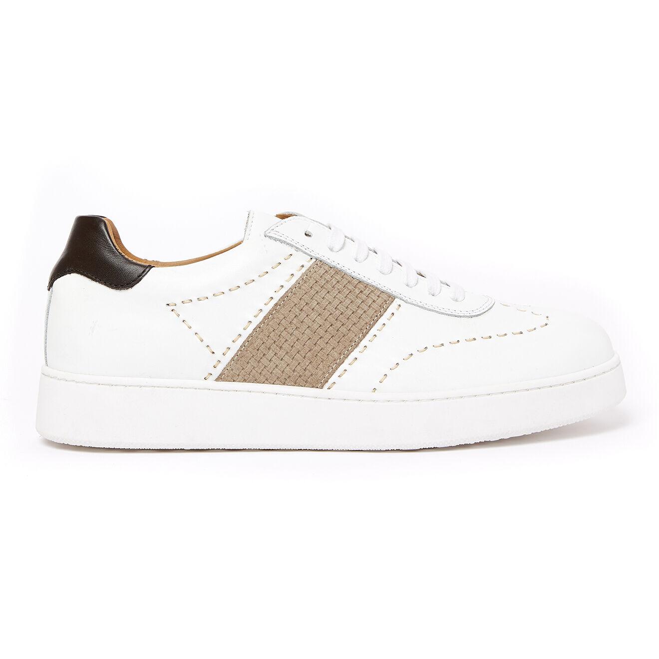 Sneakers en Cuir Olivier blanches
