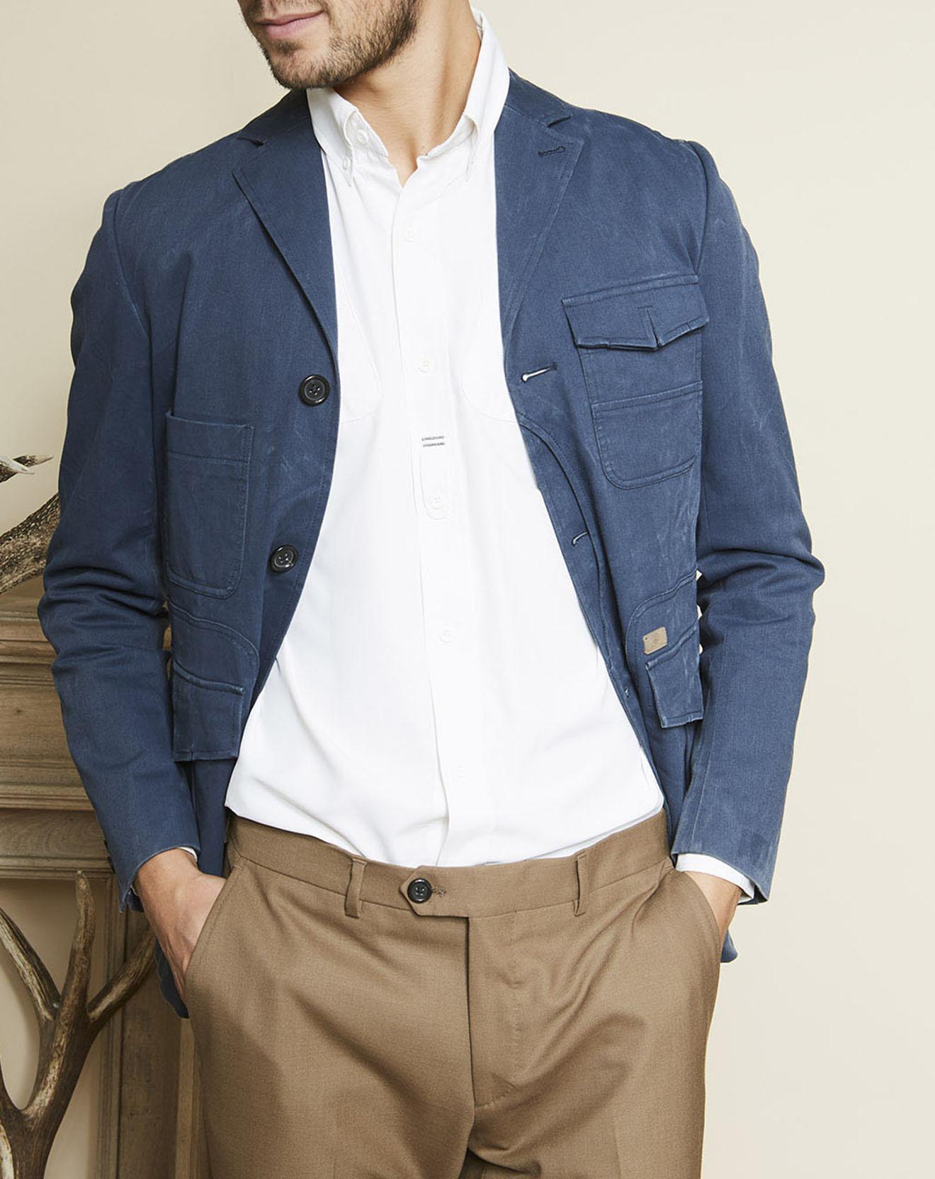 Veste Chestnut Coton bleue