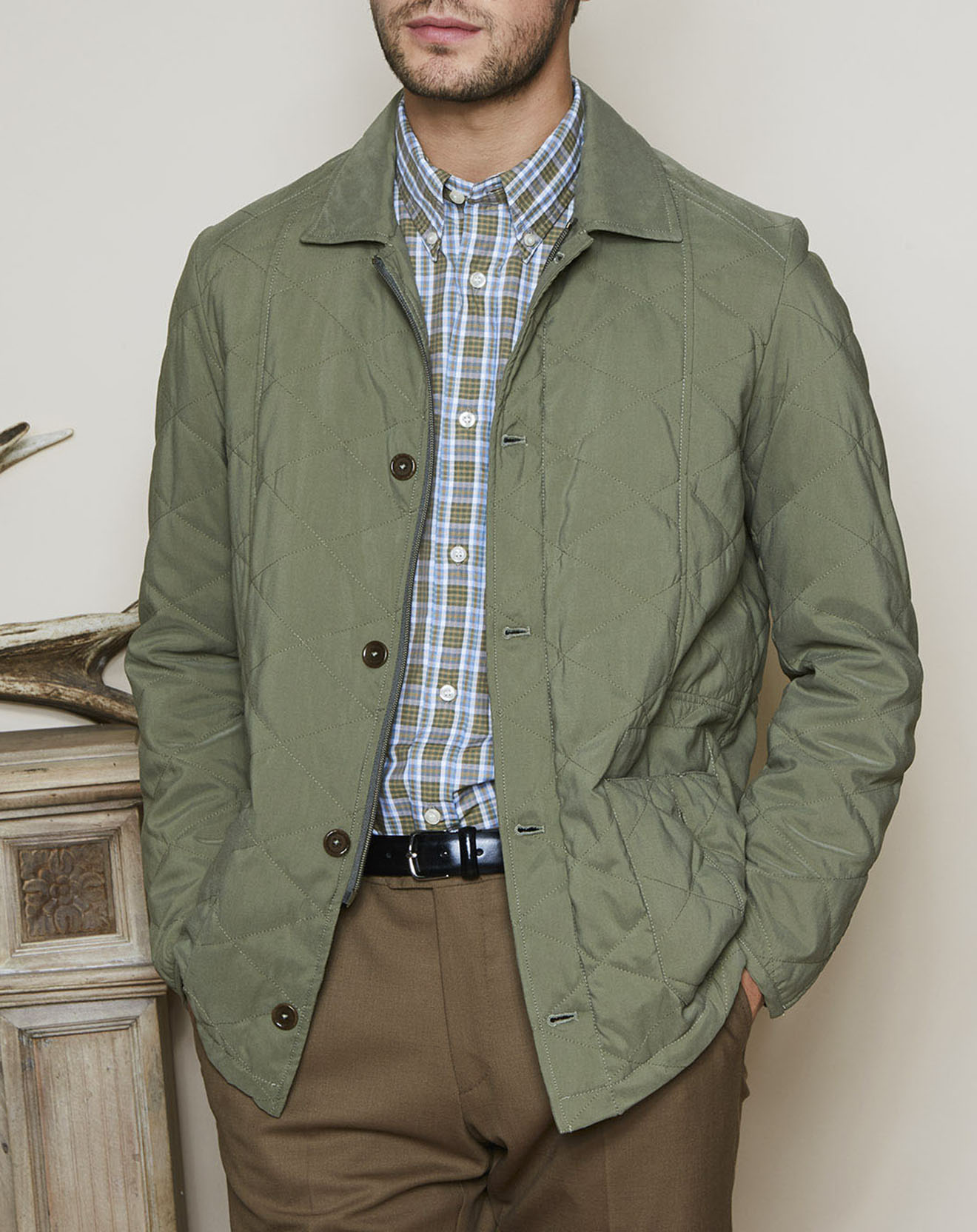 Manteau Maple Quilted vert