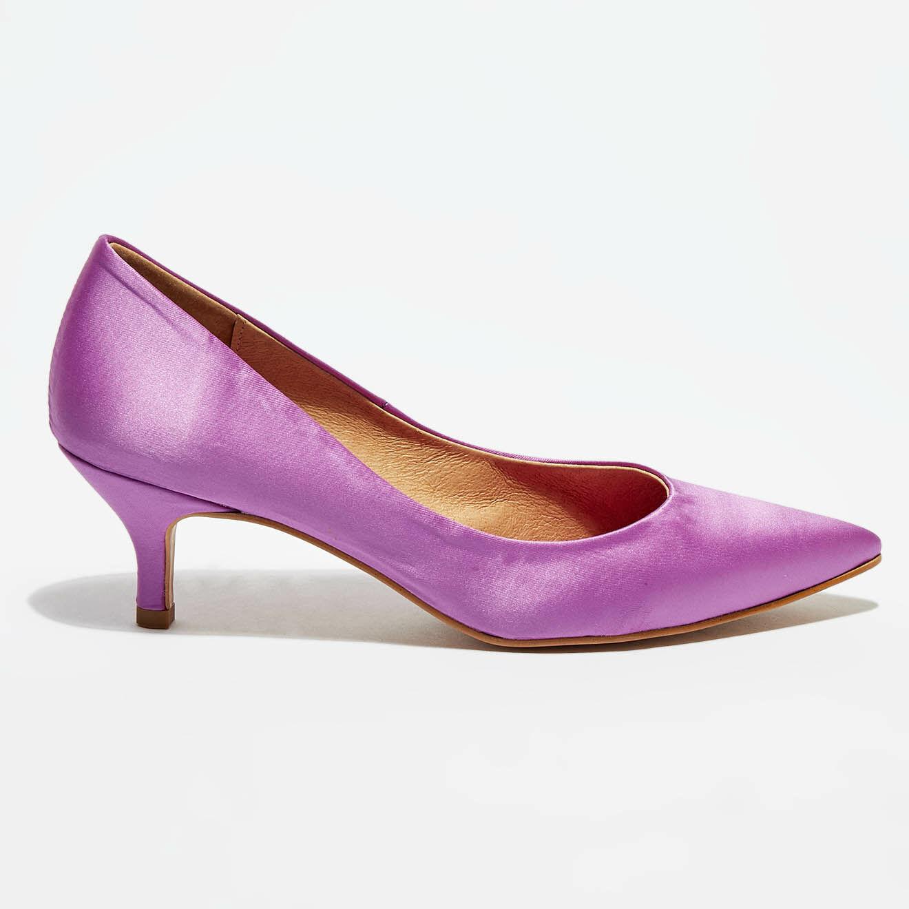 Escarpins en Tissu satiné Shika violets - Talon 5 cm - Flavio Création - Modalova