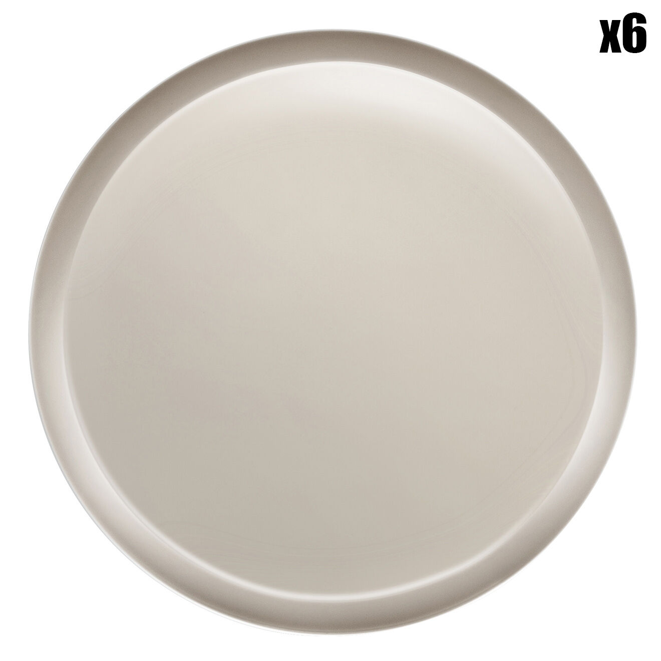 6 Assiettes plates Nomade Taupe