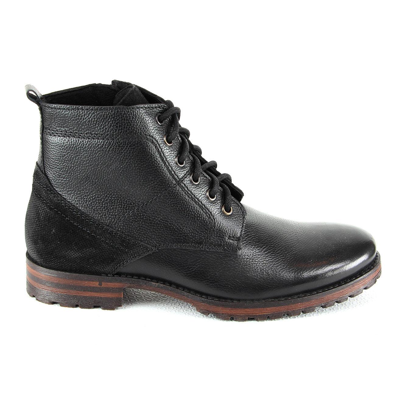 Boots en Cuir Eric noires