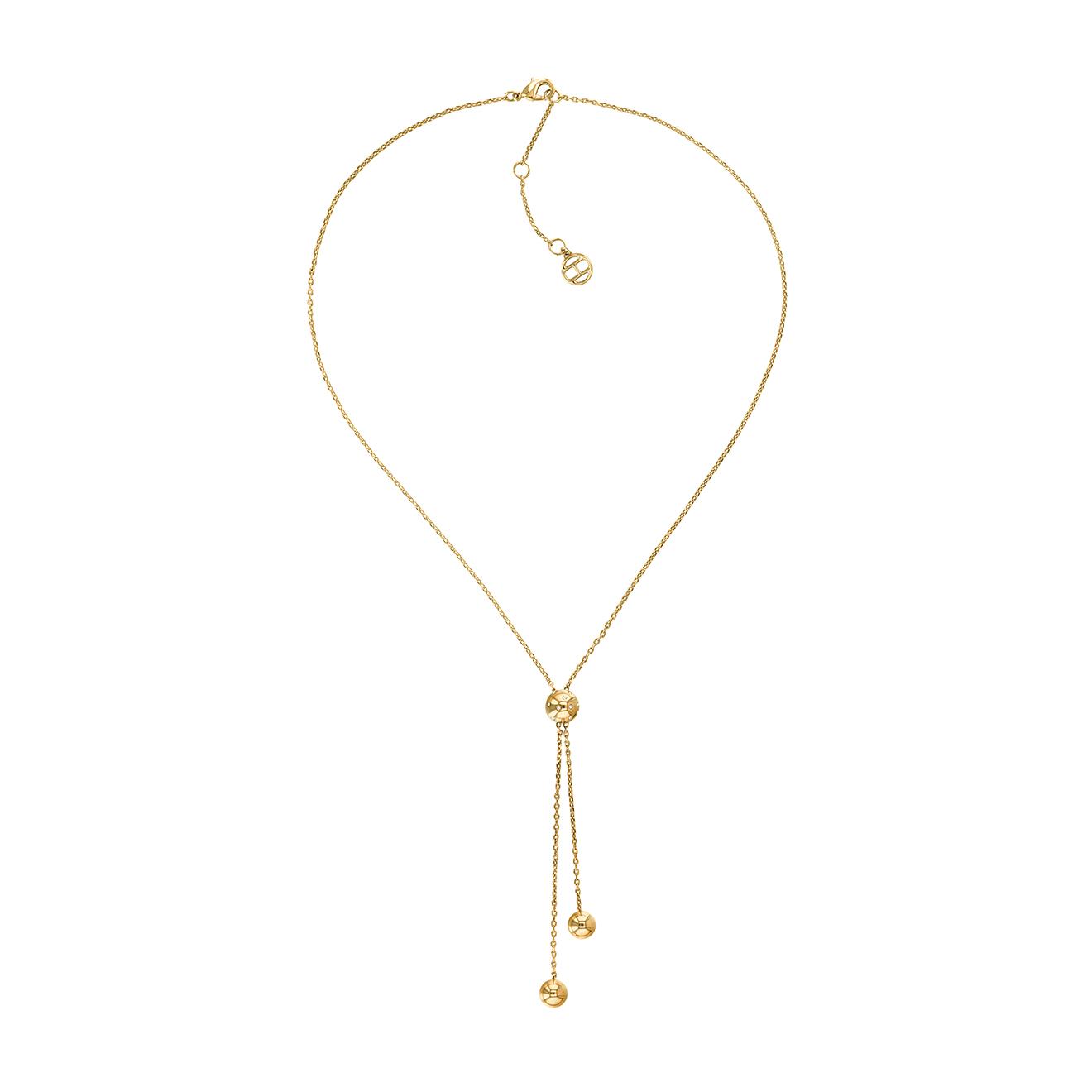 Collier de perles en Acier doré - Tommy Hilfiger - Modalova