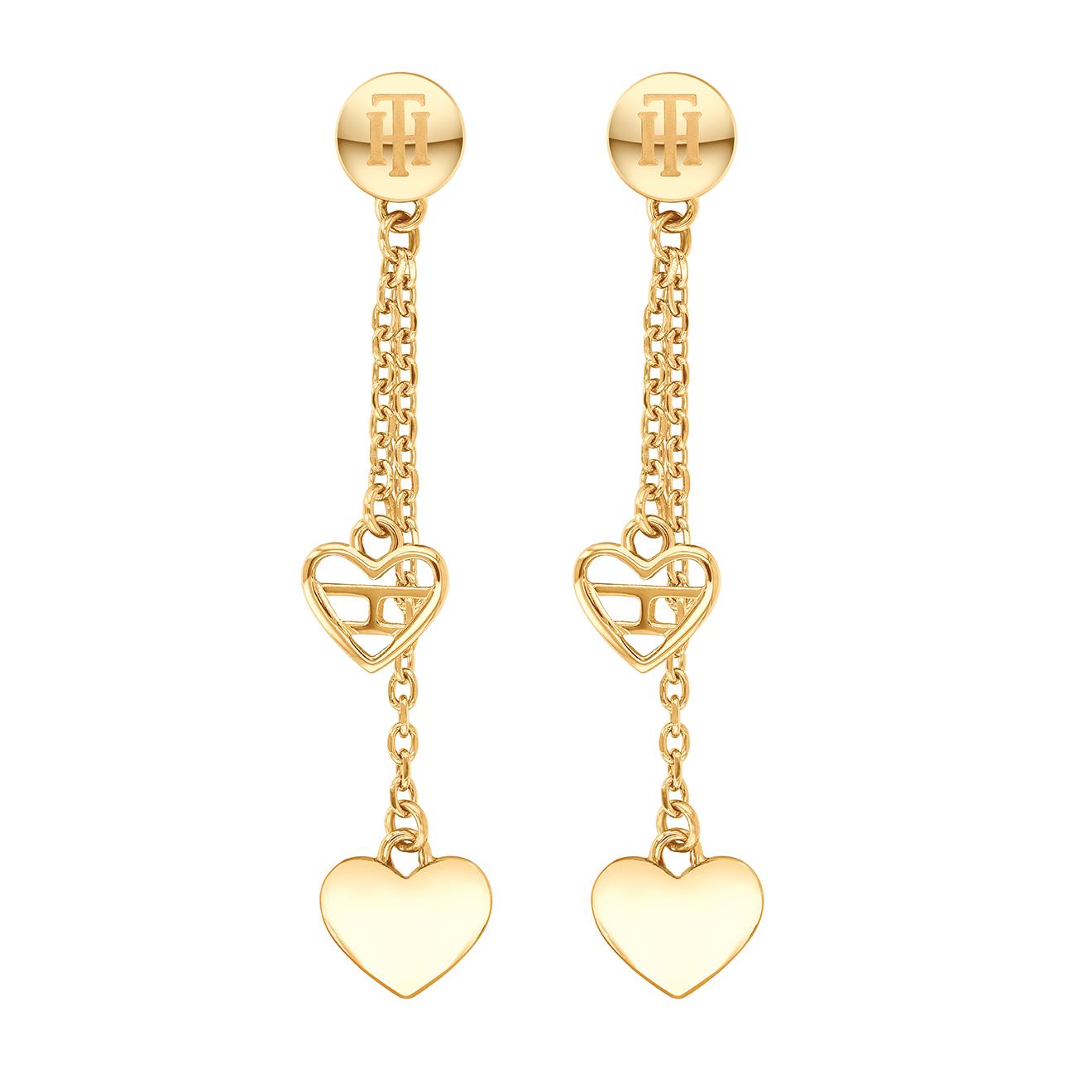 Boucles d'oreilles pendantes Coeurs en Acier - Tommy Hilfiger - Modalova