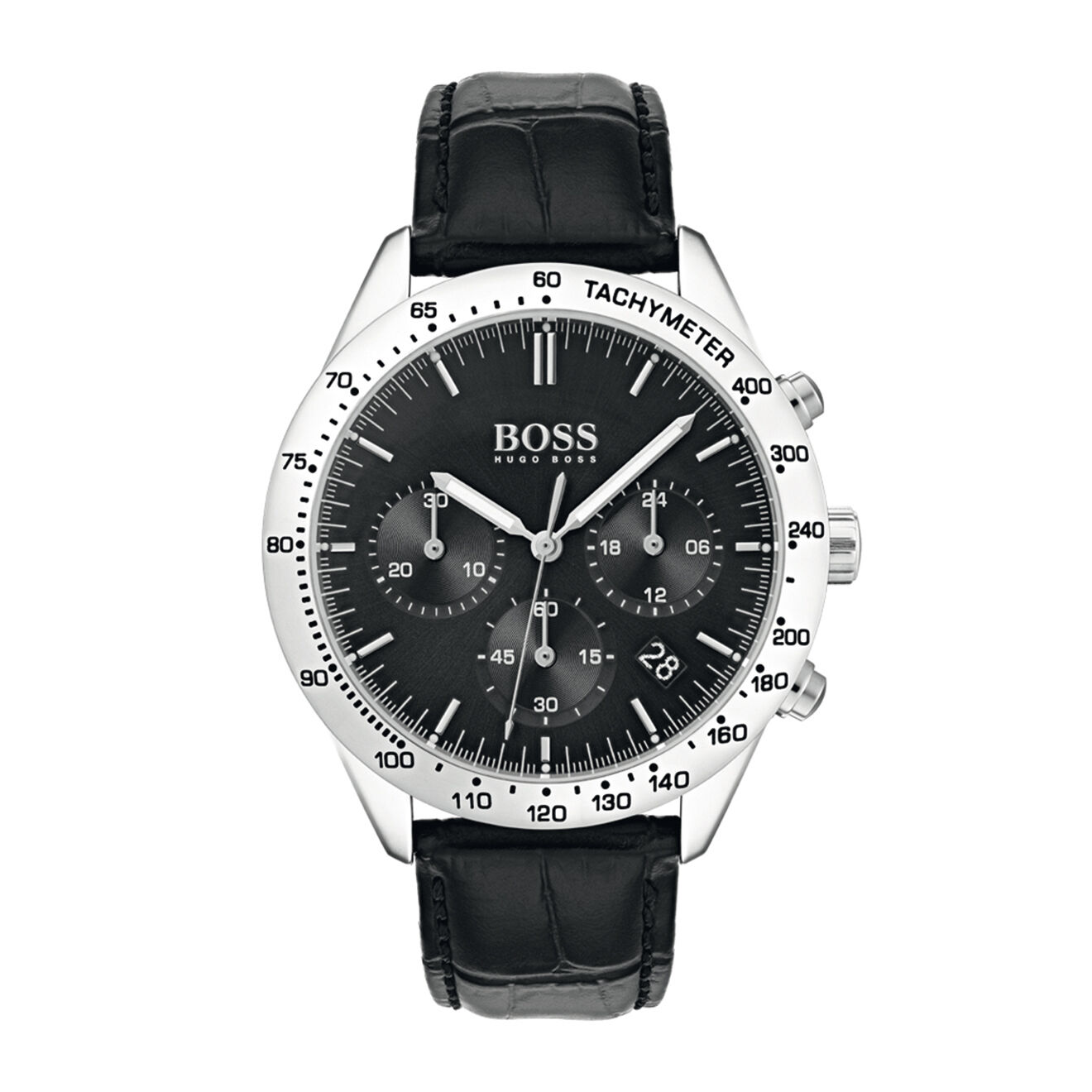Montre Talent en Cuir noir croco - Hugo Boss - Modalova