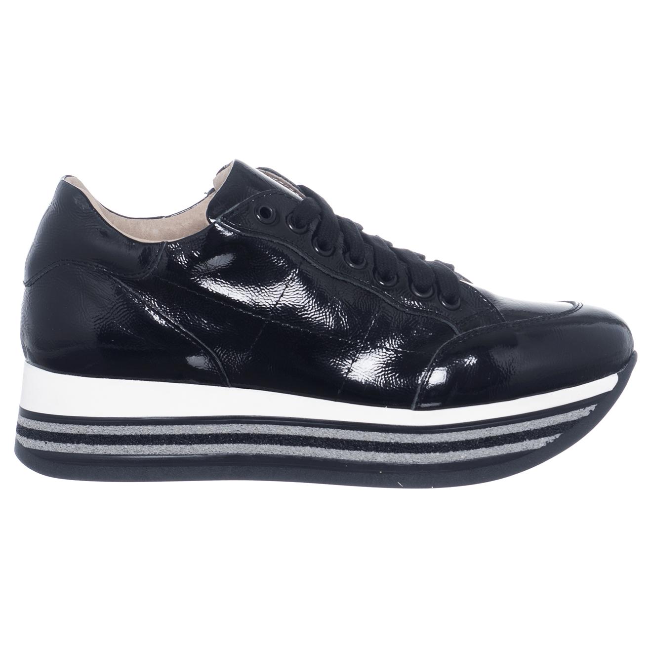 Sneakers en Cuir Elsa noires - Loretta Pettinari - Modalova