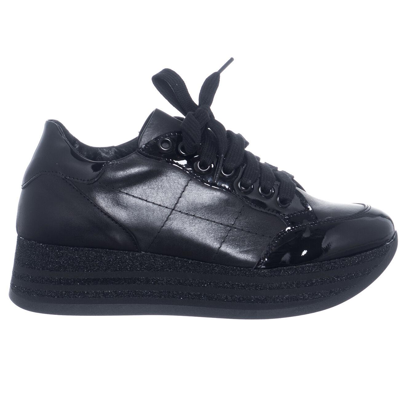 Sneakers en Cuir Bérénice noires - Loretta Pettinari - Modalova