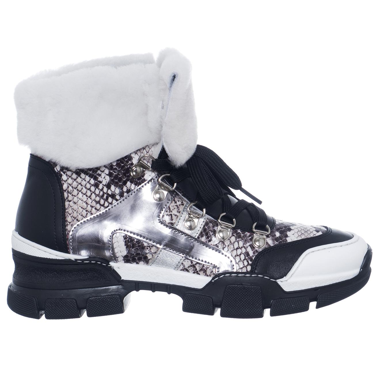 Sneakers en Cuir Victoria noir/gris/argenté - Loretta Pettinari - Modalova