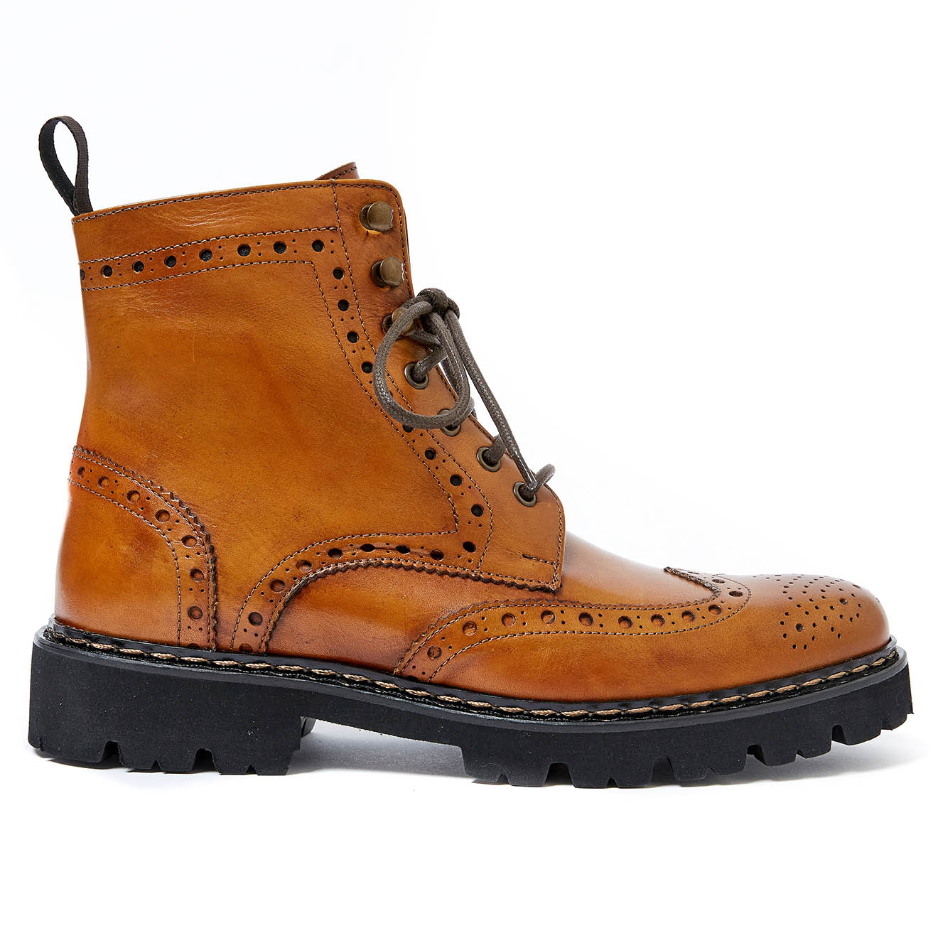 Boots en Cuir Thomas marron - British Passport - Modalova