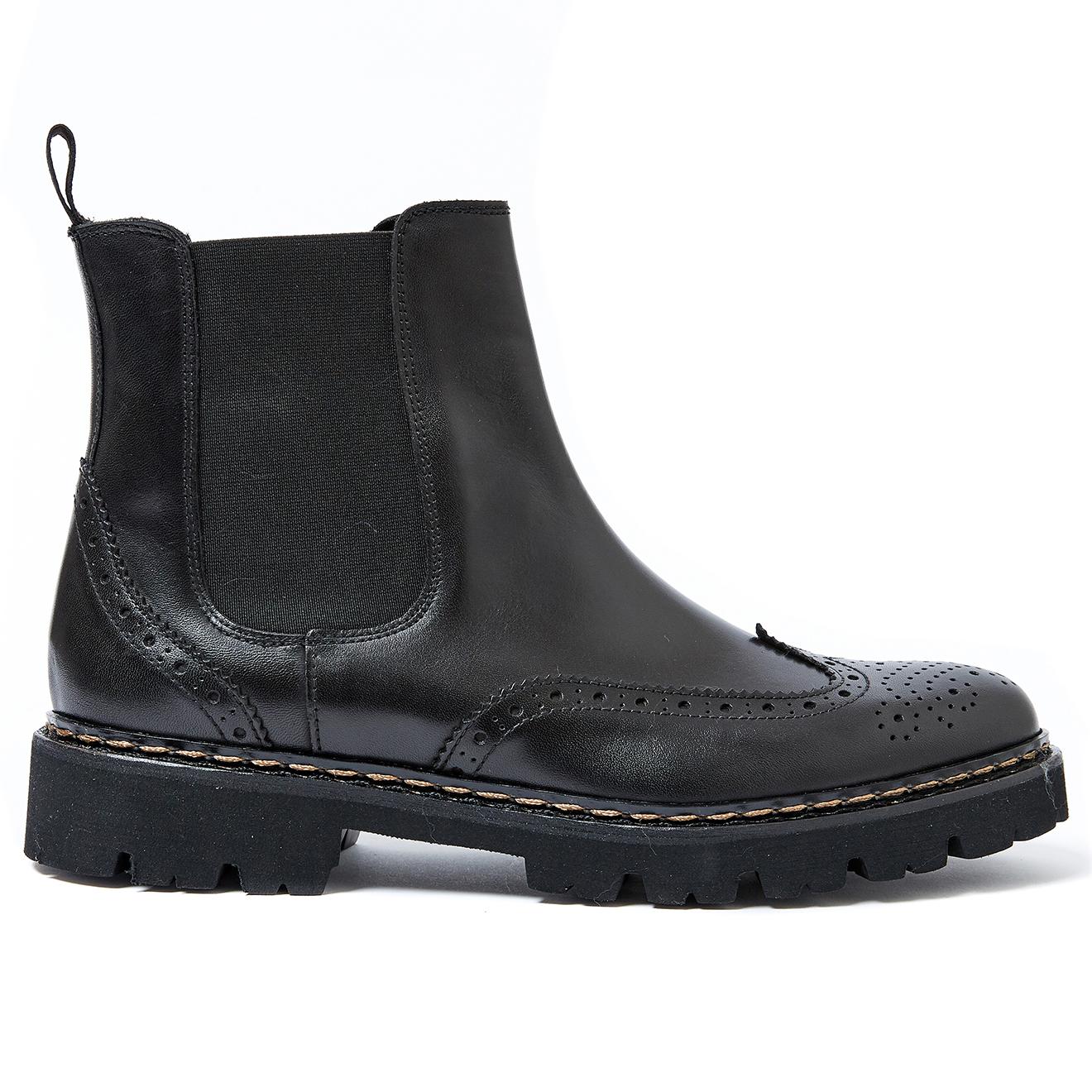 Chelsea Boots en Cuir James noires - British Passport - Modalova
