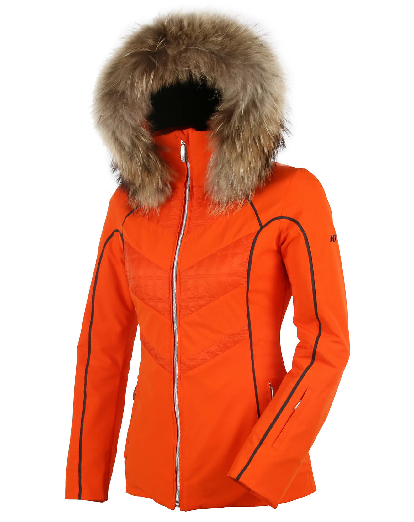 Veste de ski Parrot Fourrure Véritable orange