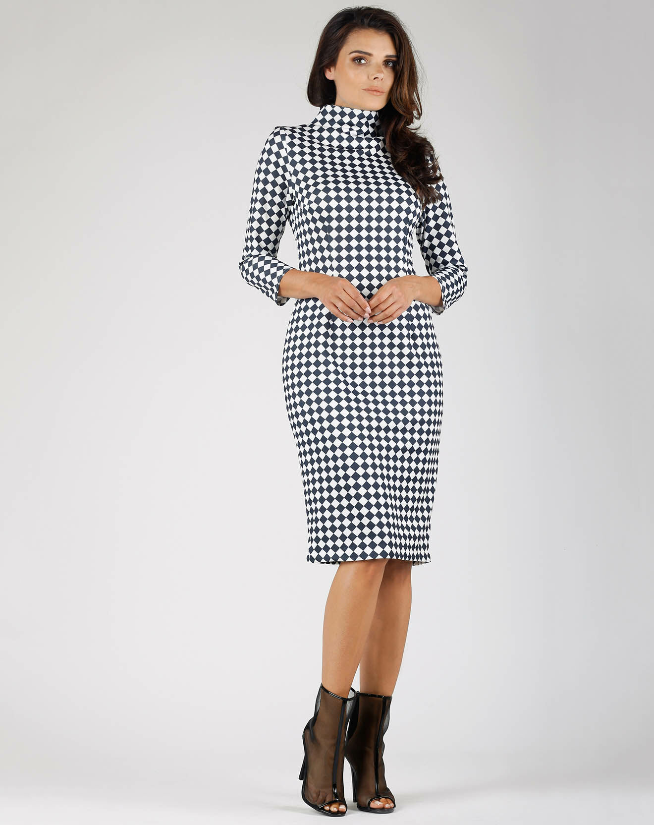Robe Louise noir/blanc