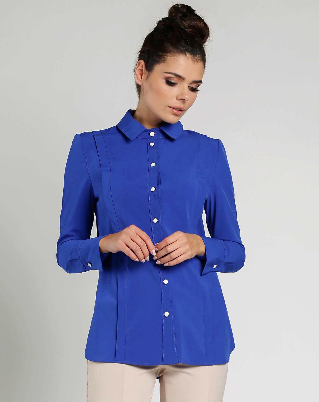 Chemise Pauline bleu cobalt