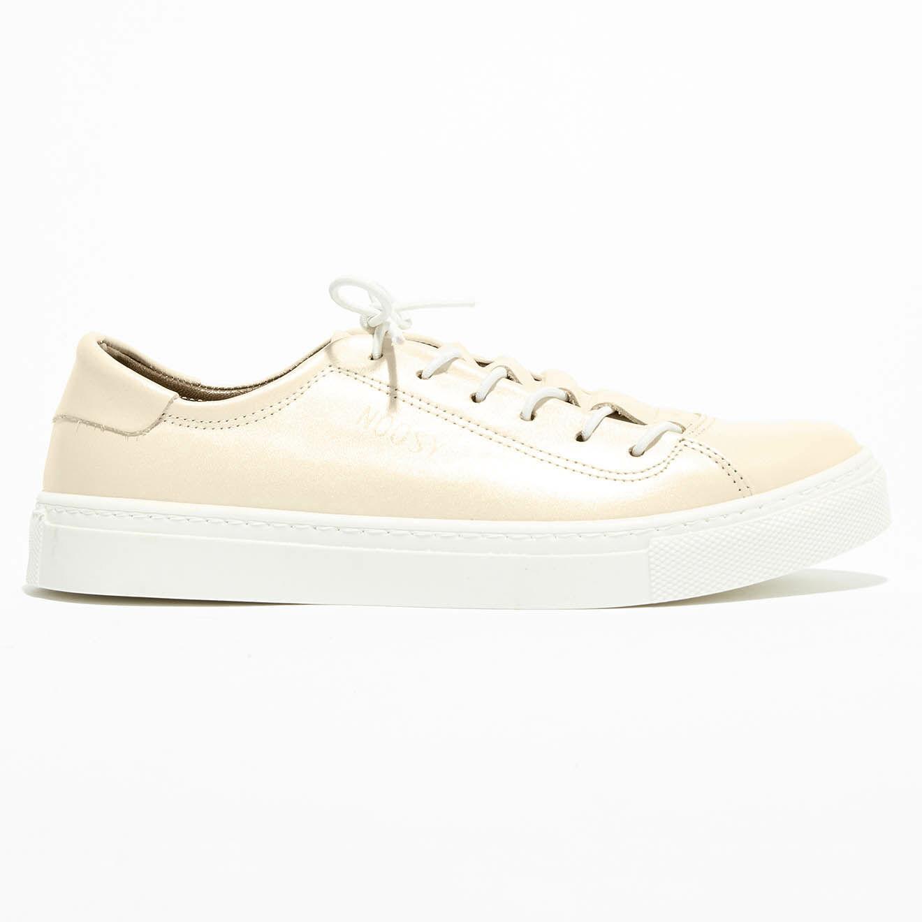 Sneakers en Cuir Forty avec languette crème
