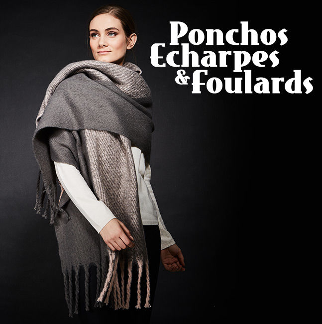Ponchos Echarpes & Foulards