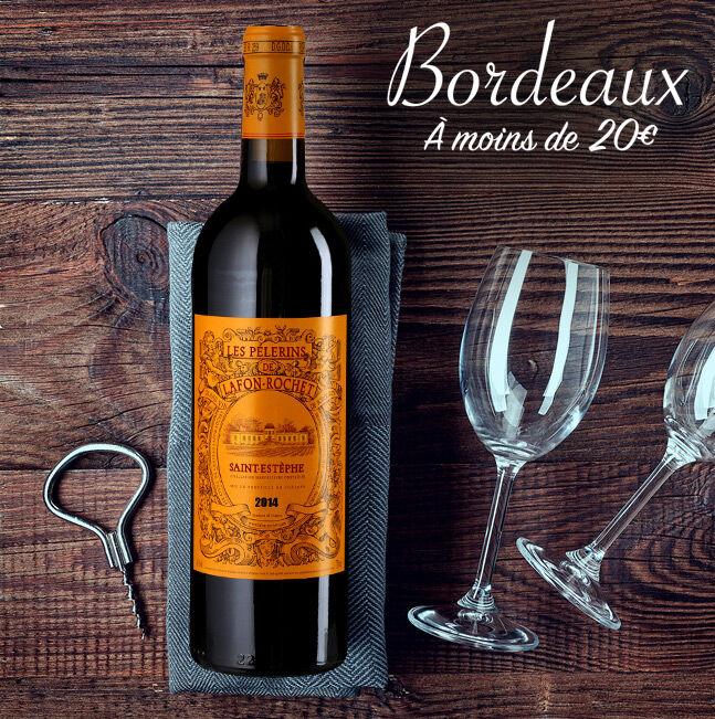 Bordeaux à moins de 20€