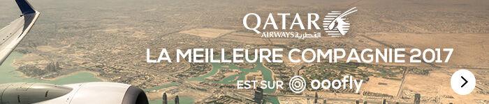 Qatar AIRWAYS, la meilleure compagnie 2017, est sur ooofly