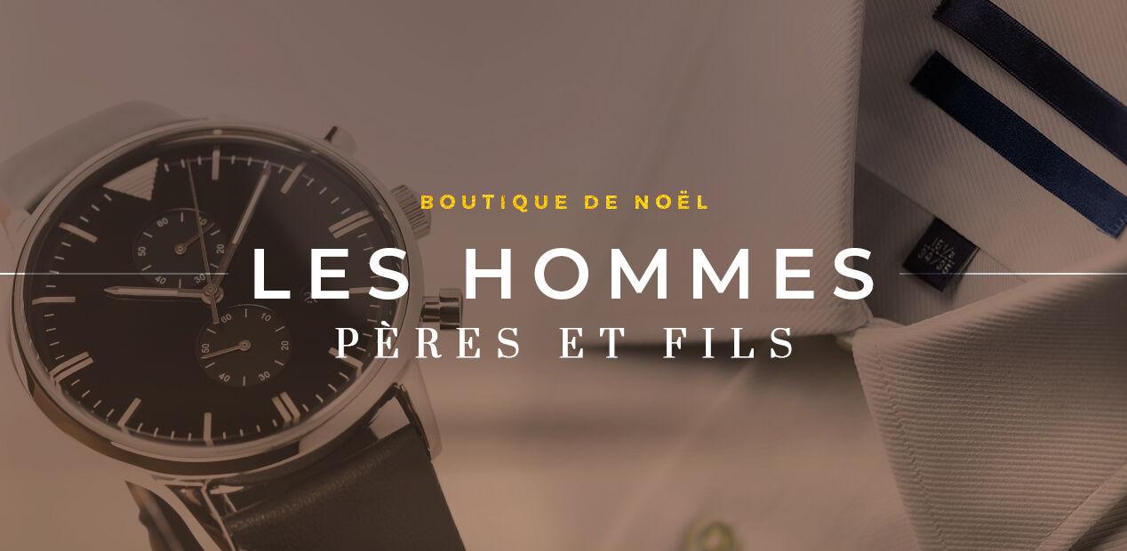 Boutique de noël - Les Hommes, Pères & Fils