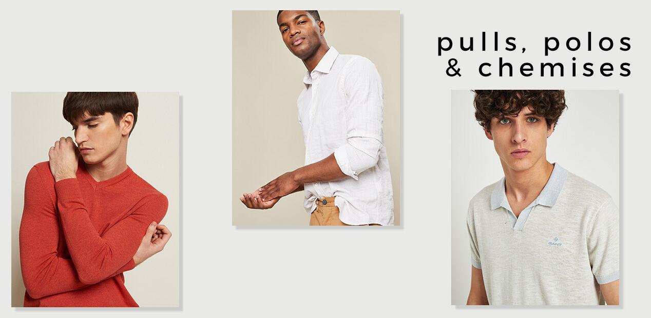 Pulls, Polos & Chemises